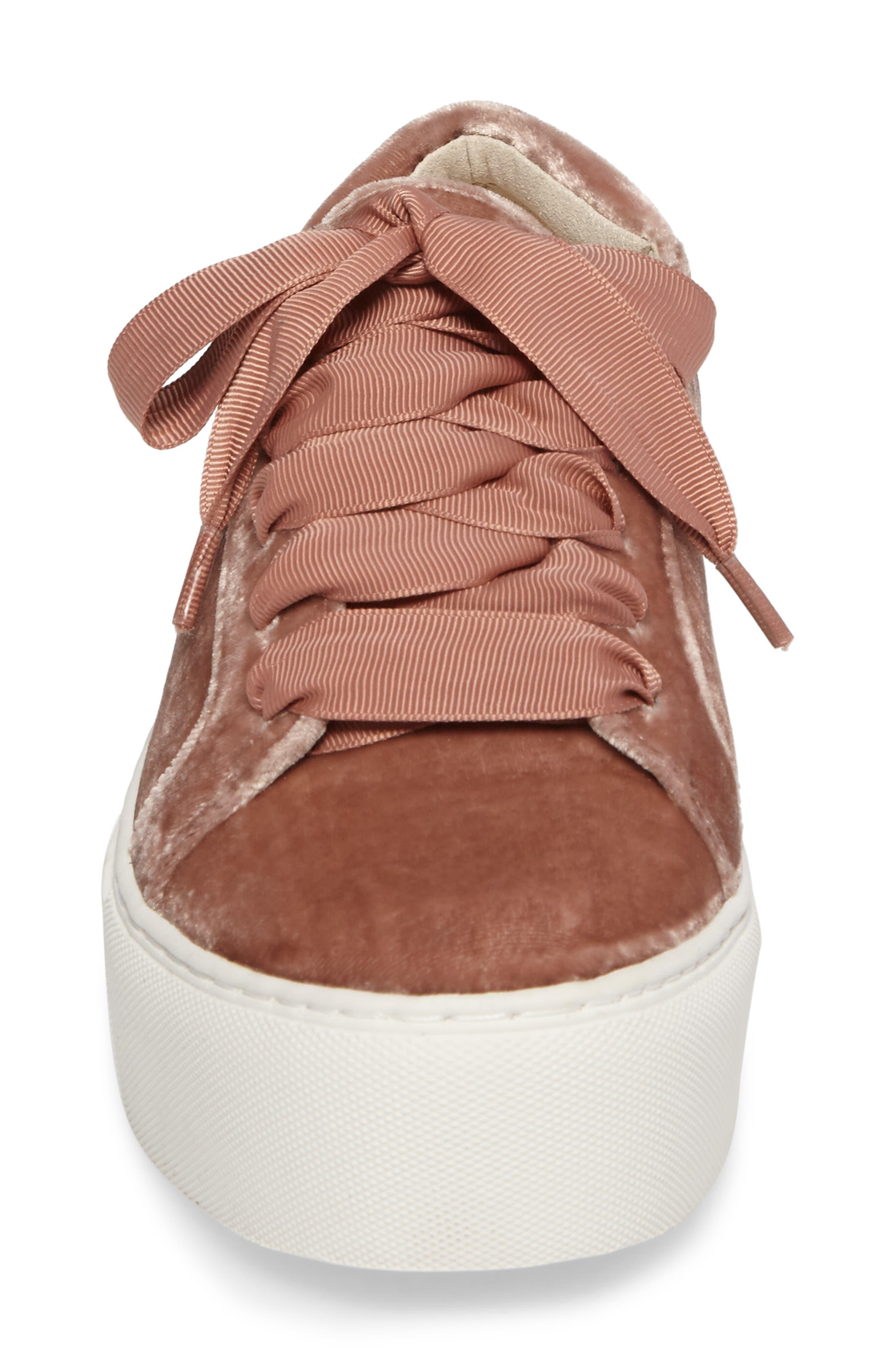 Abbey Platform Sneaker,                             Alternate thumbnail 4, color,                             Blush Velvet
