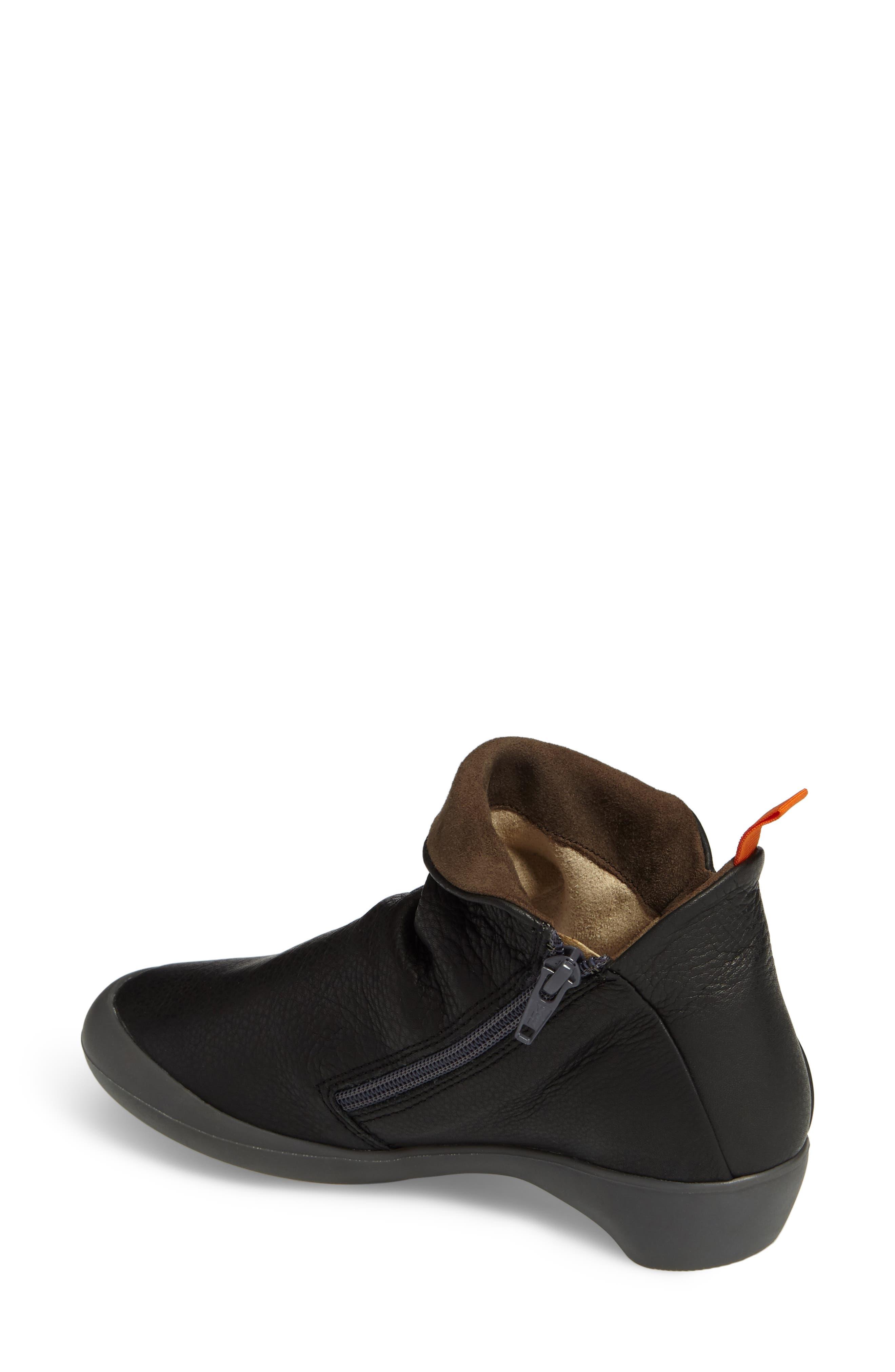 Farah Bootie,                             Alternate thumbnail 2, color,                             Black/ Brown Leather