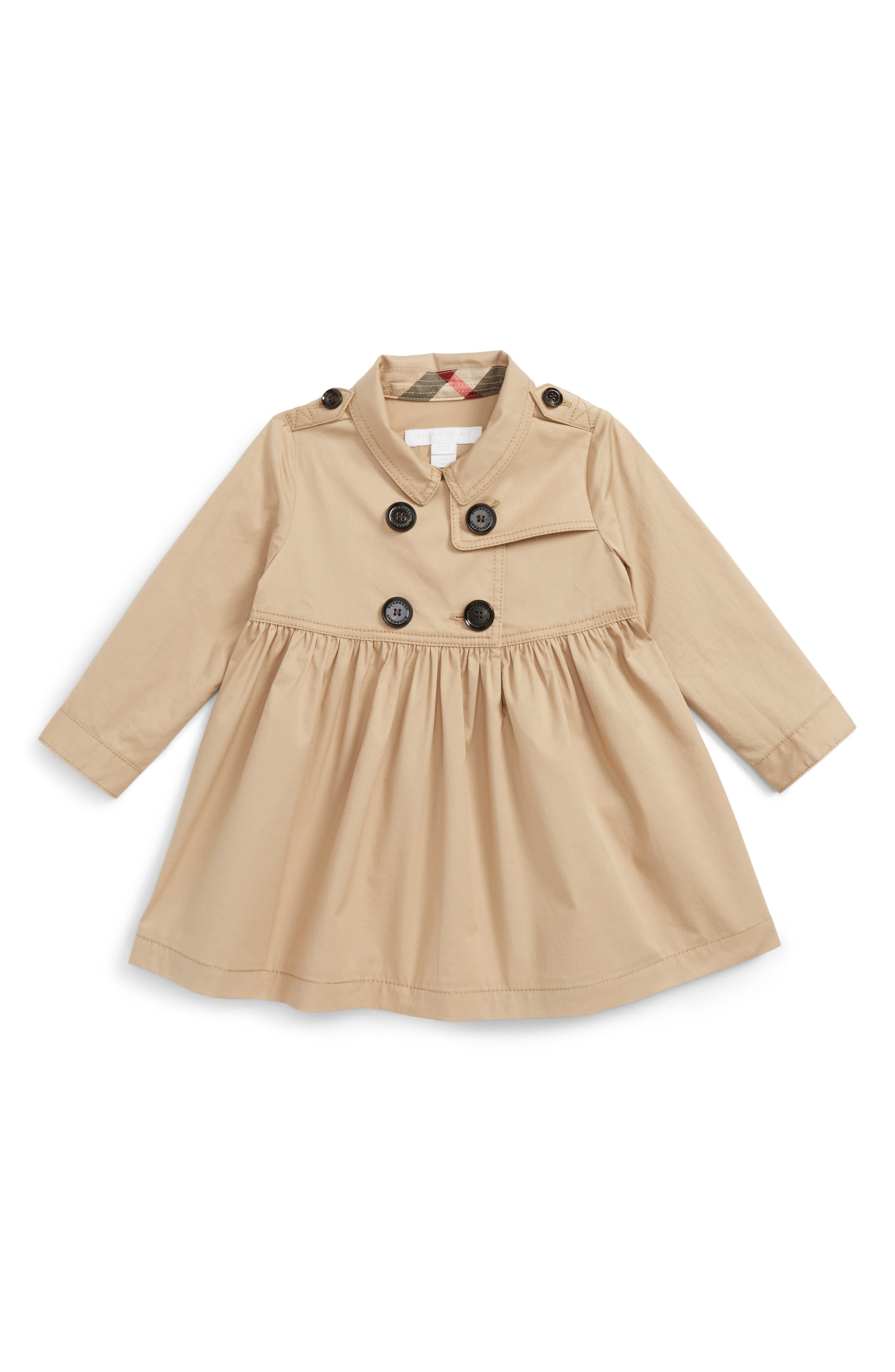 Main Image - Burberry Lillybeth Dress (Baby Girls)