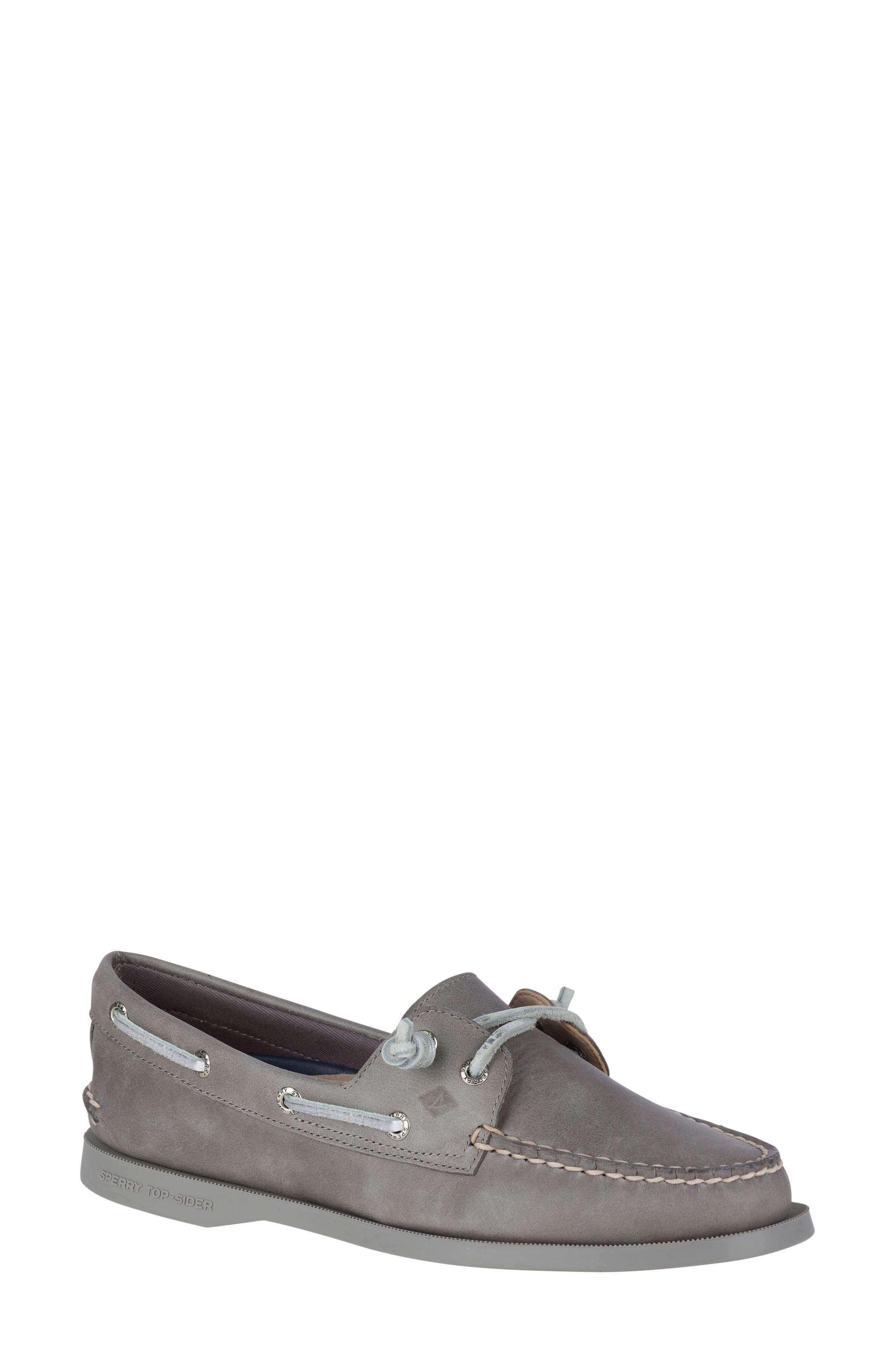 Vida Boat Shoe,                             Main thumbnail 1, color,                             Driftwood Leather
