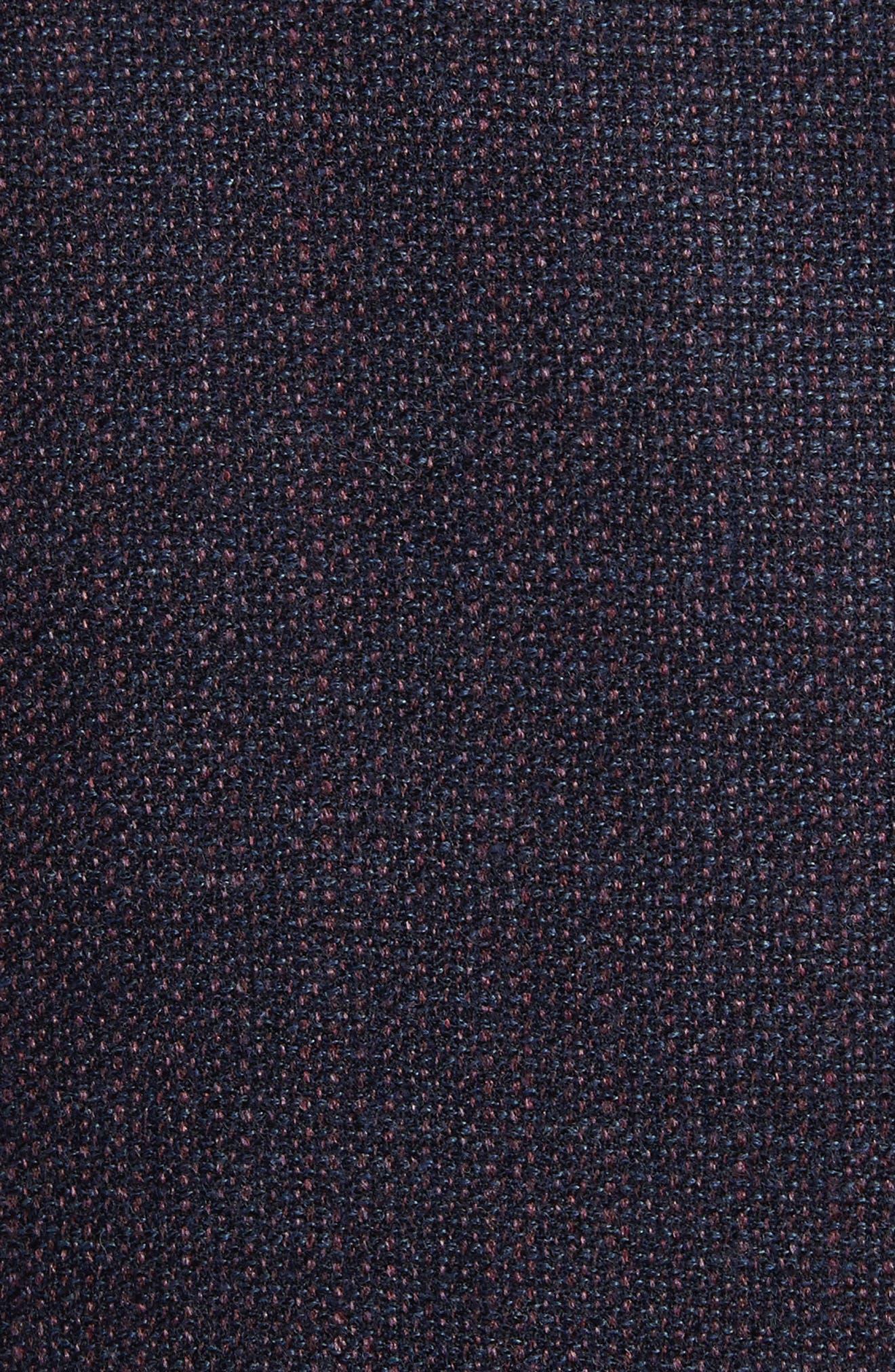 Kei Coat Classic Fit Wool Blazer,                             Alternate thumbnail 4, color,                             Red