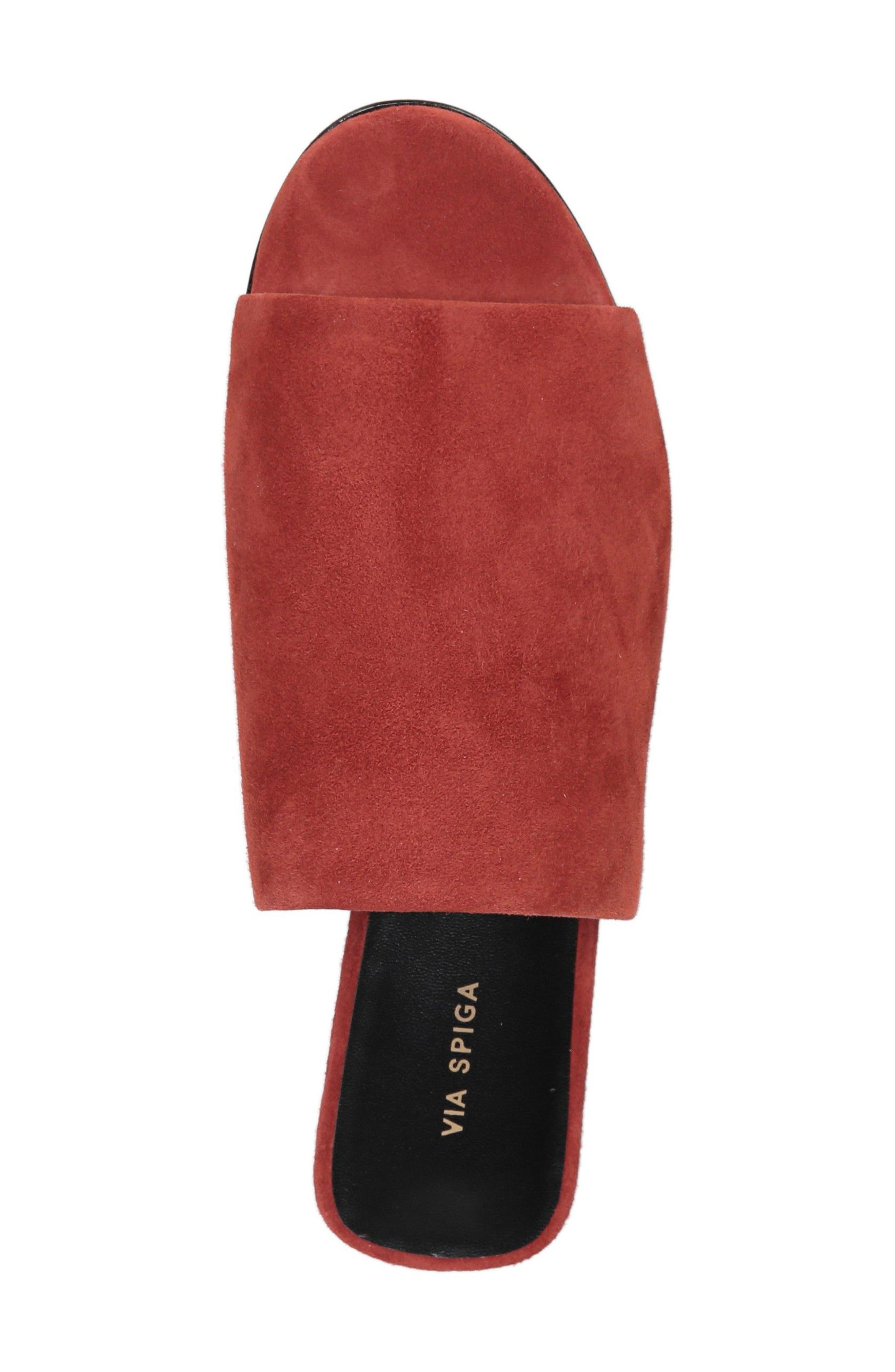 Heather Slide Sandal,                             Alternate thumbnail 5, color,                             Brick Leather