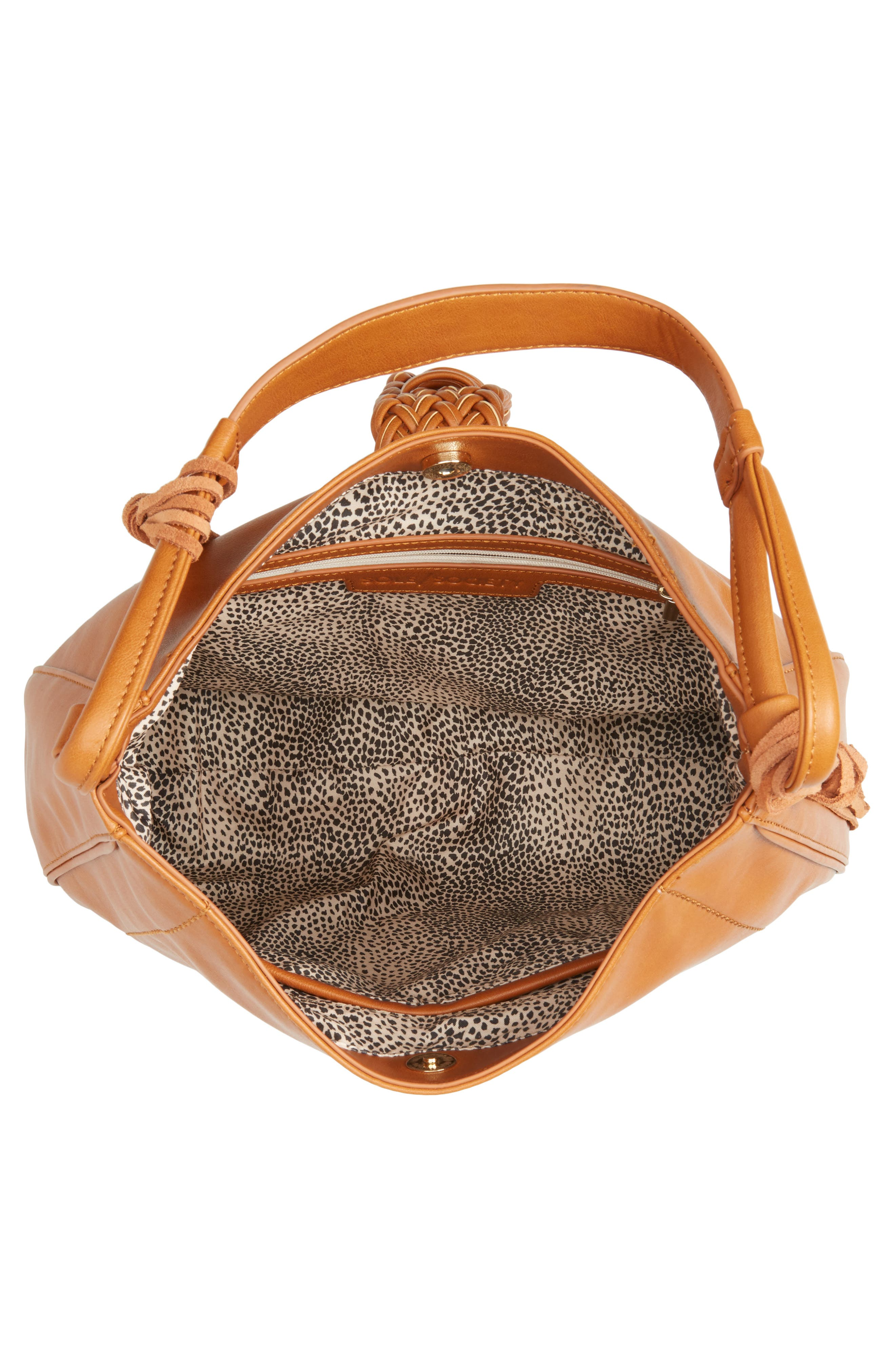 Alternate Image 4  - Sole Society Vale Faux Leather Hobo Bag