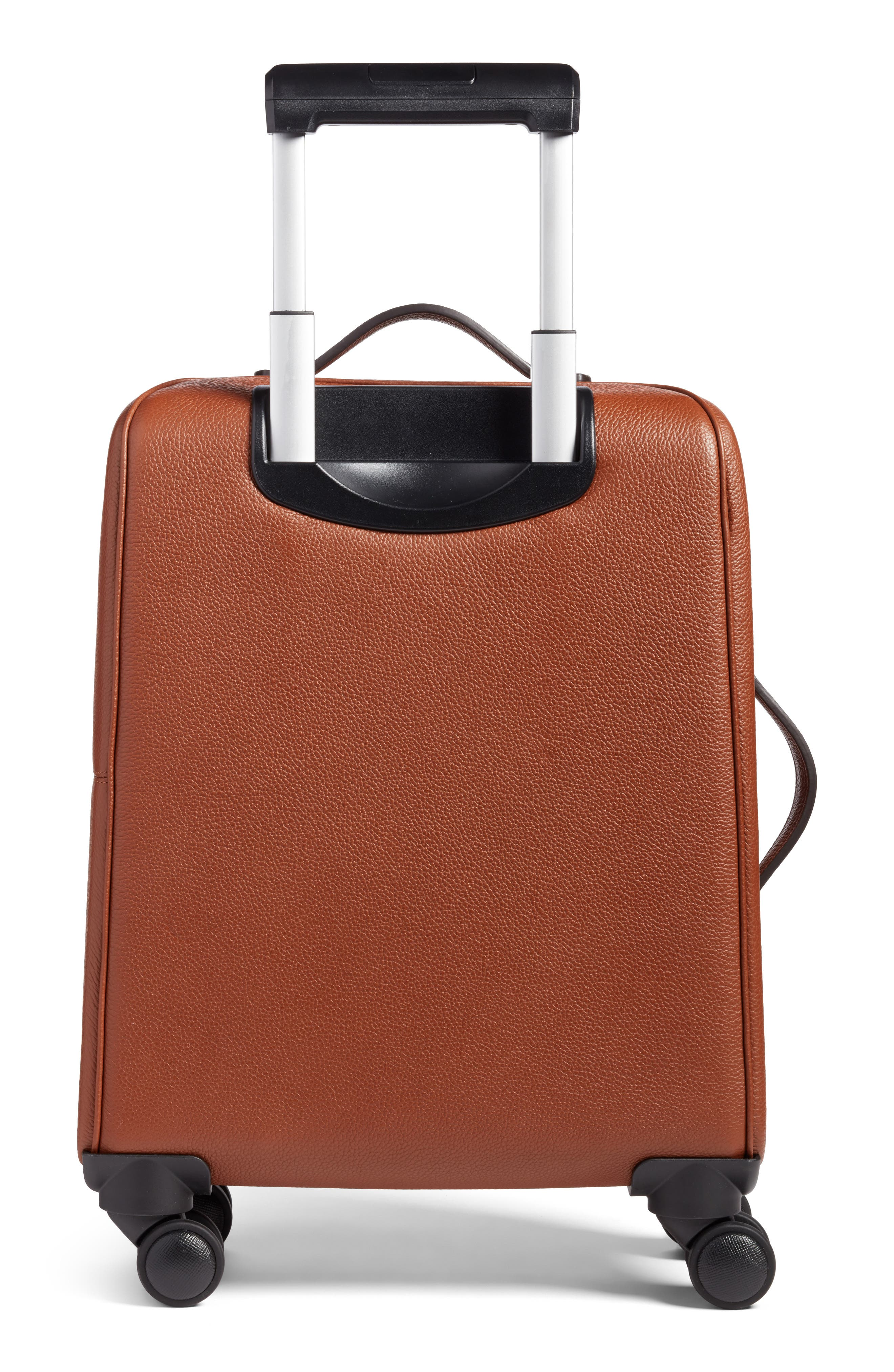 Trolley Spinner Wheeled Carry-On Suitcase,                             Alternate thumbnail 2, color,                             Sienna
