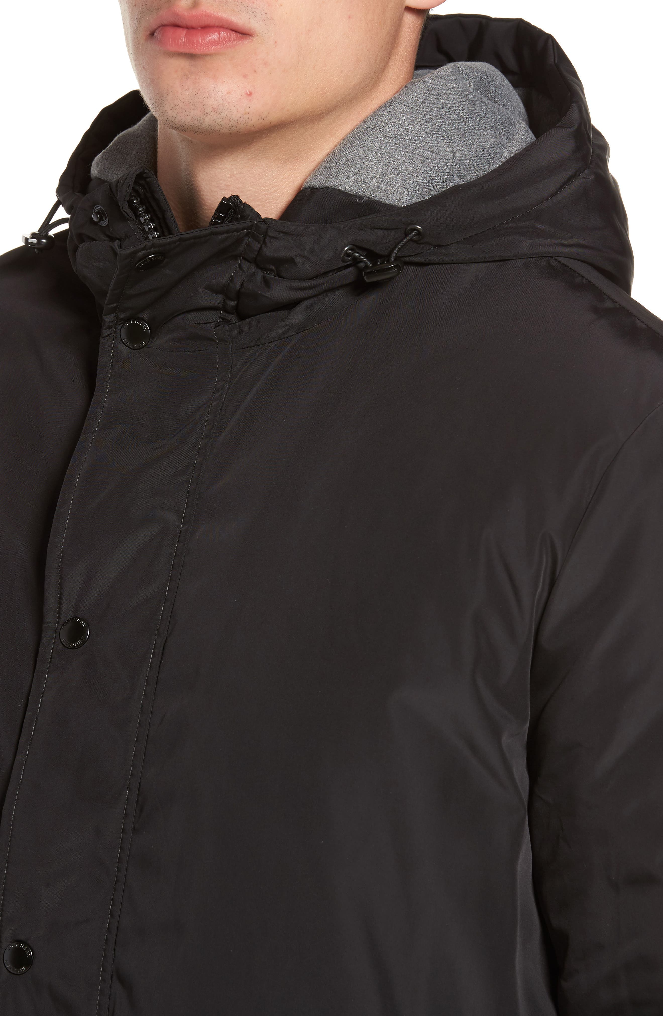 Water Resistant Insulated Jacket,                             Alternate thumbnail 4, color,                             Black
