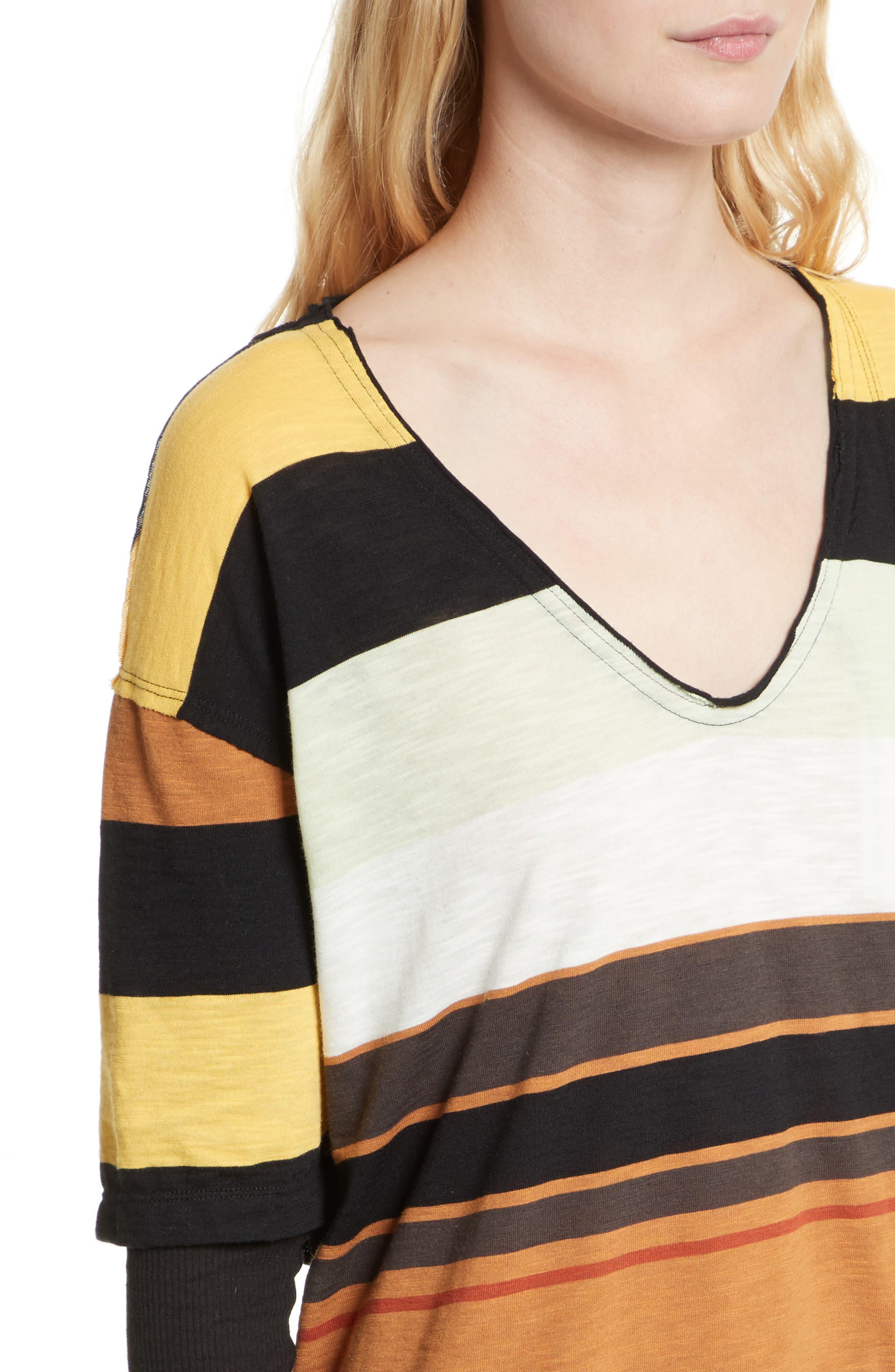 Kate Stripe Tunic,                             Alternate thumbnail 4, color,                             Ivory