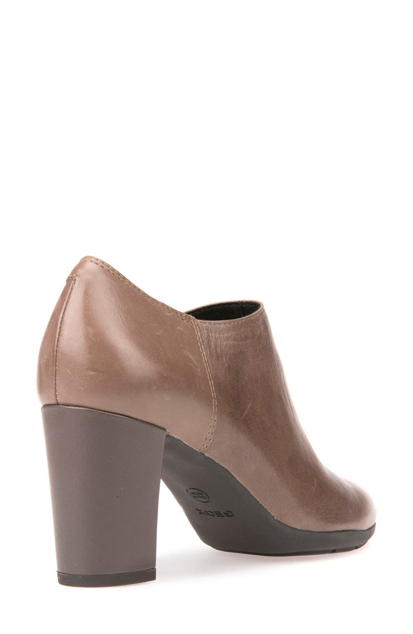Annya Bootie,                             Alternate thumbnail 5, color,                             Taupe Leather