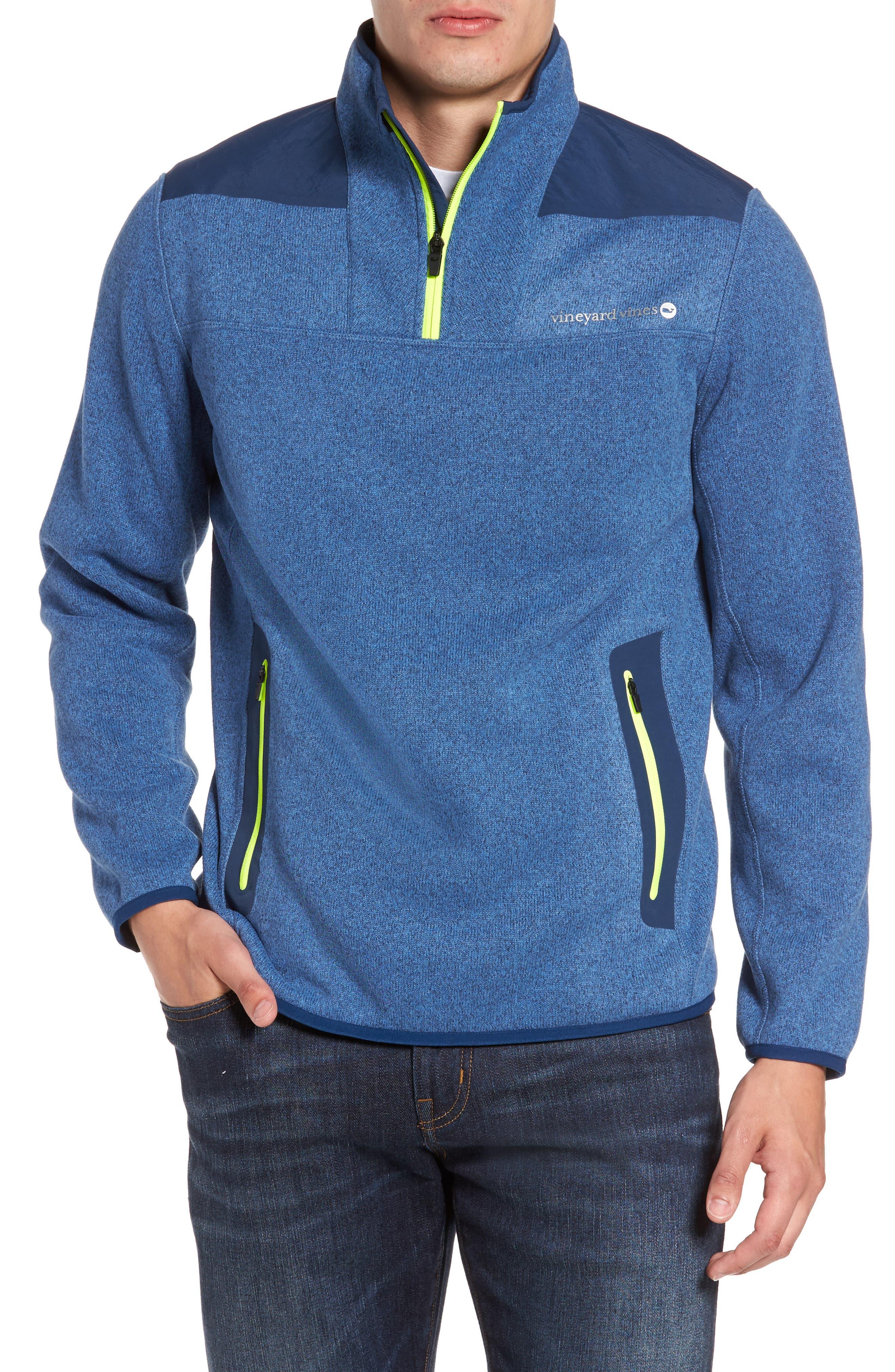 Shep Quarter Zip Fleece Sweater,                         Main,                         color, Moonshine