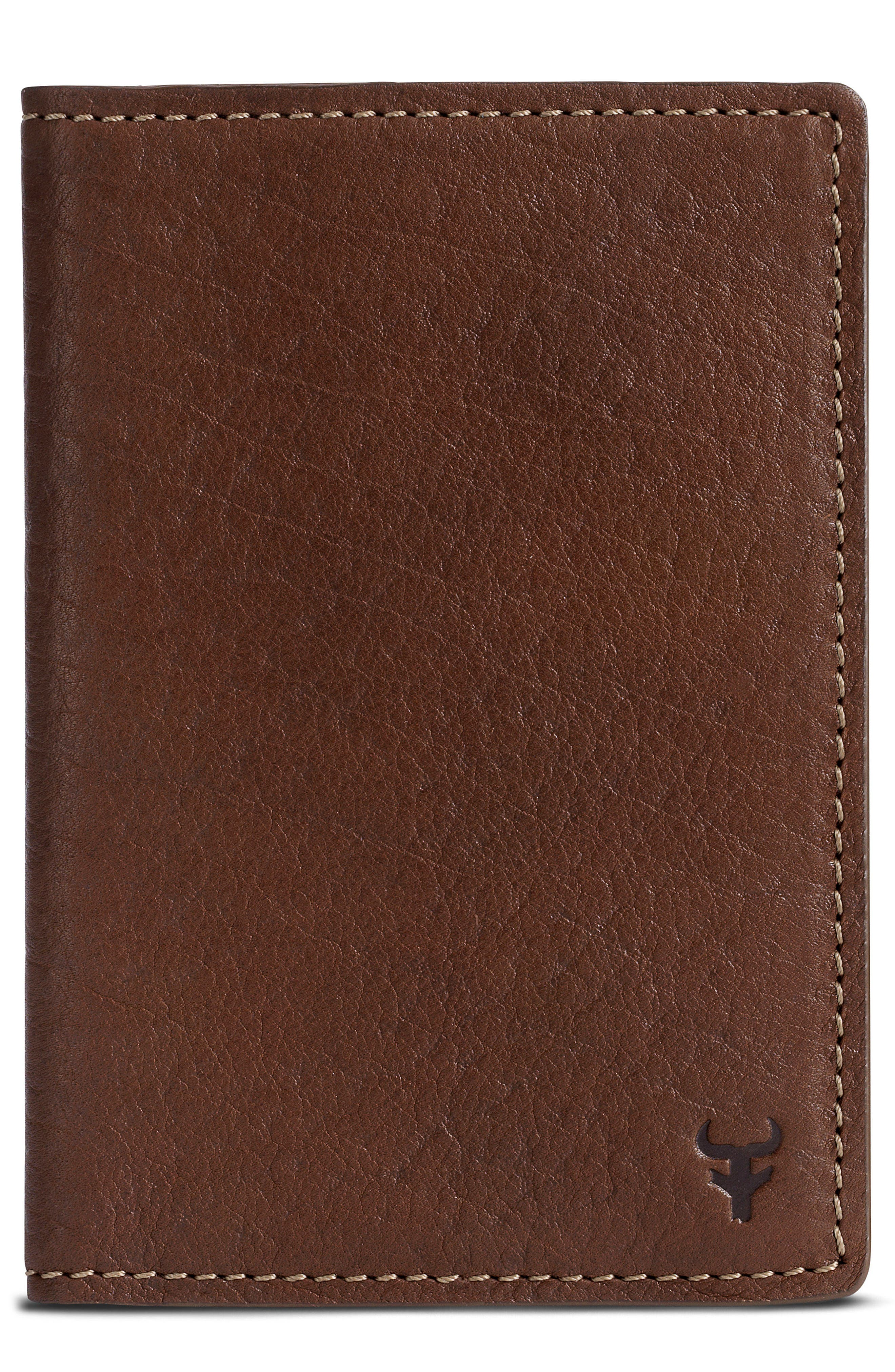 Jackson Passport Cover,                         Main,                         color, Brown Horween American Bison