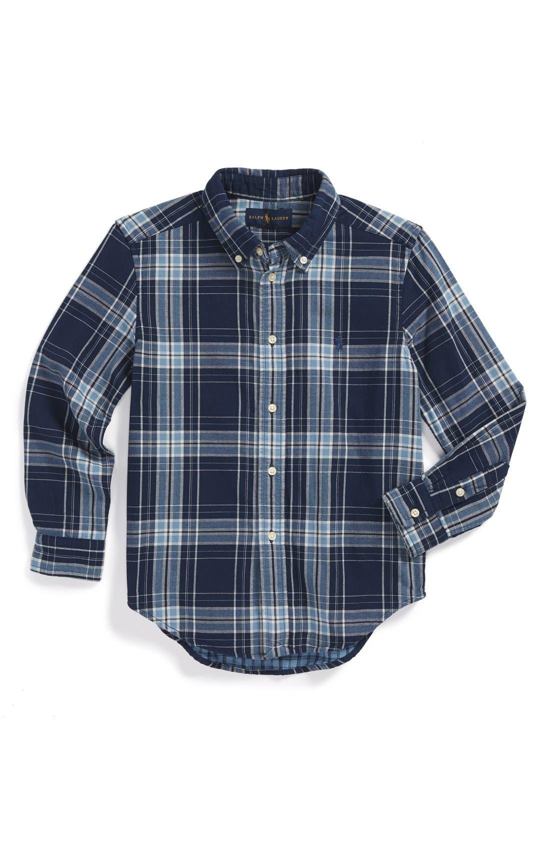 Main Image - Ralph Lauren 'Blake' Long Sleeve Woven Sport Shirt (Little Boys)