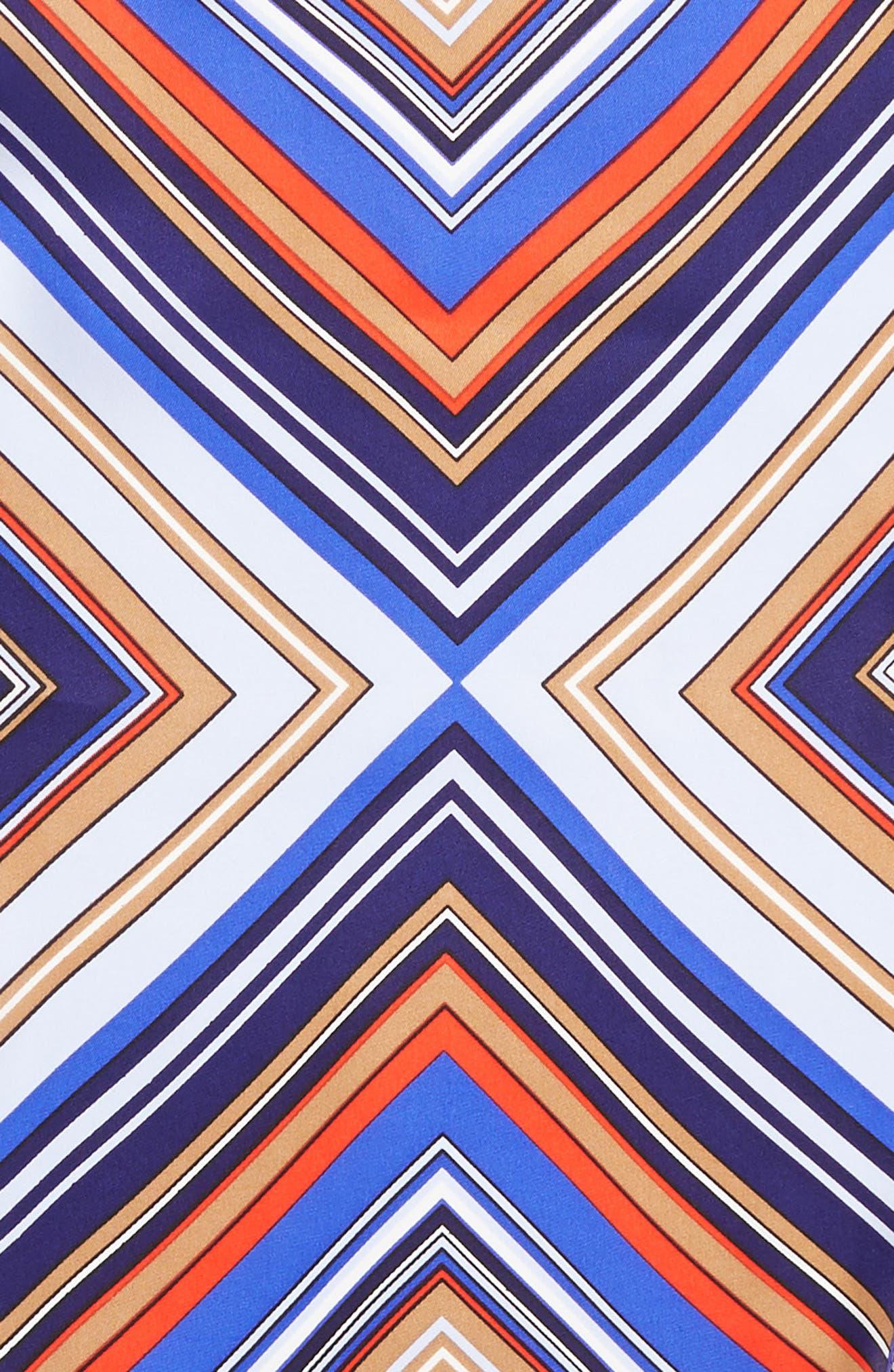 Stripe Diamond Silk Scarf,                             Alternate thumbnail 4, color,                             Blue