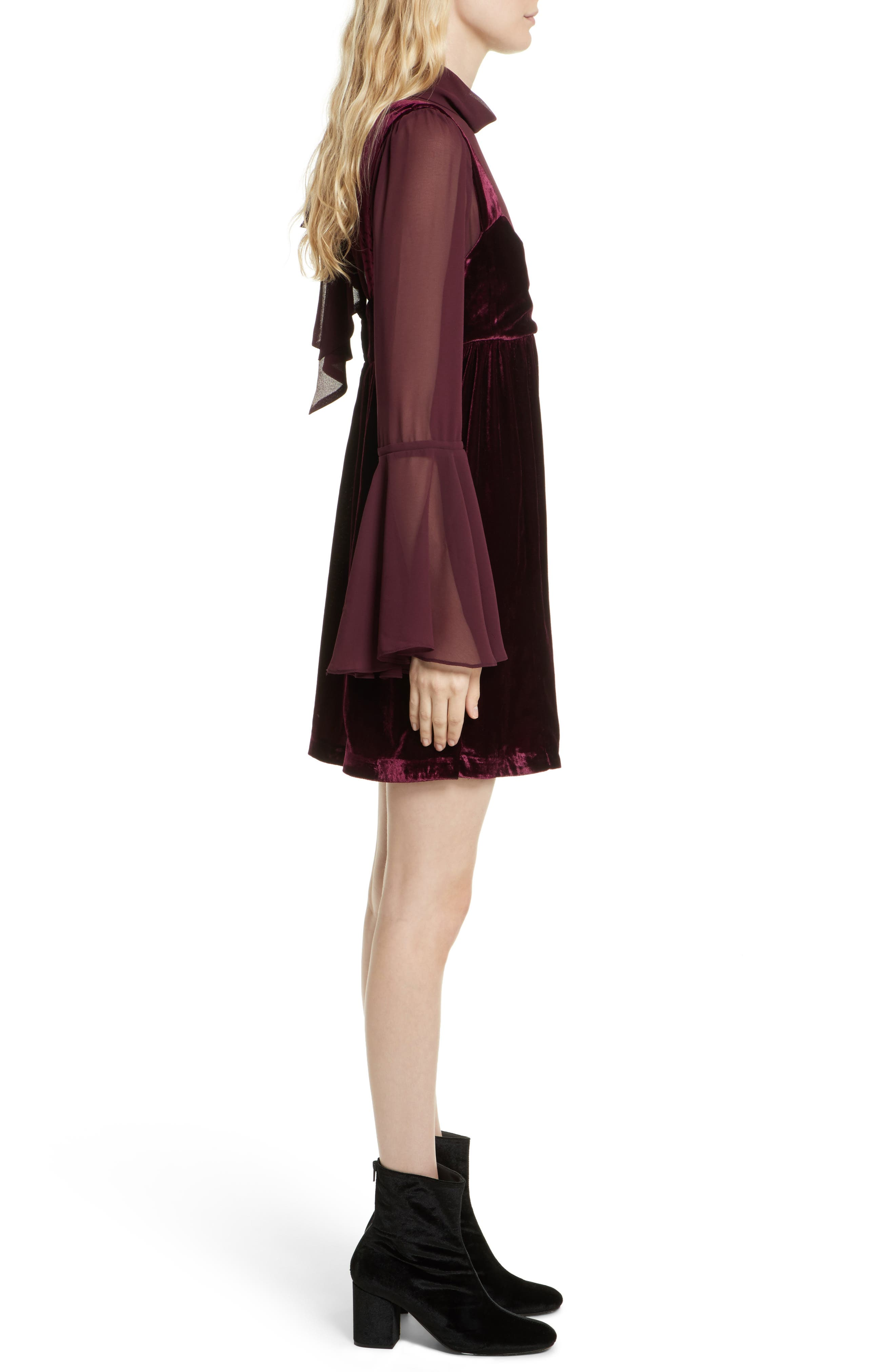 Counting Stars Minidress,                             Alternate thumbnail 3, color,                             Wine