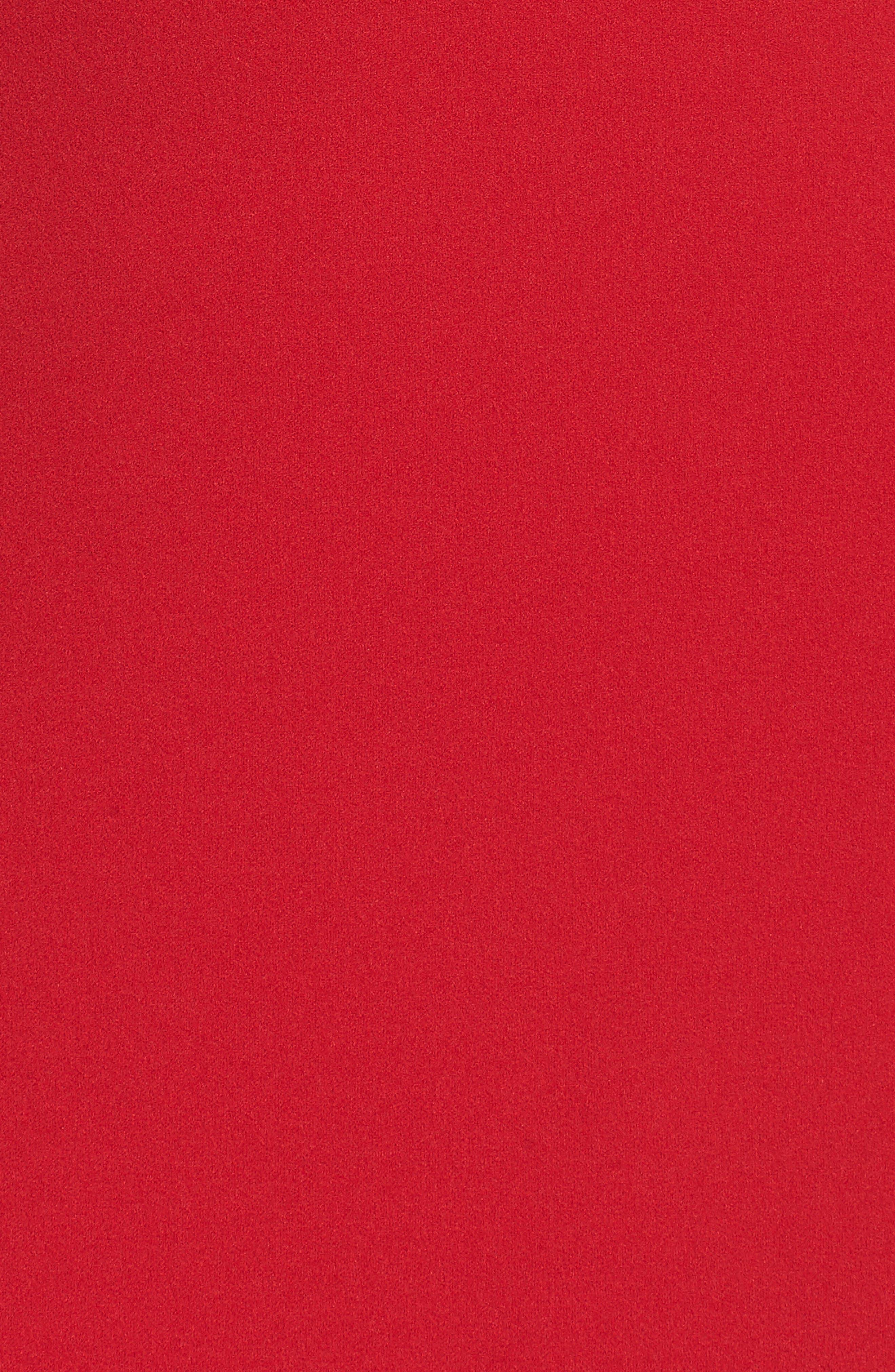 Bell Sleeve Sheath Dress,                             Alternate thumbnail 5, color,                             Apple Red