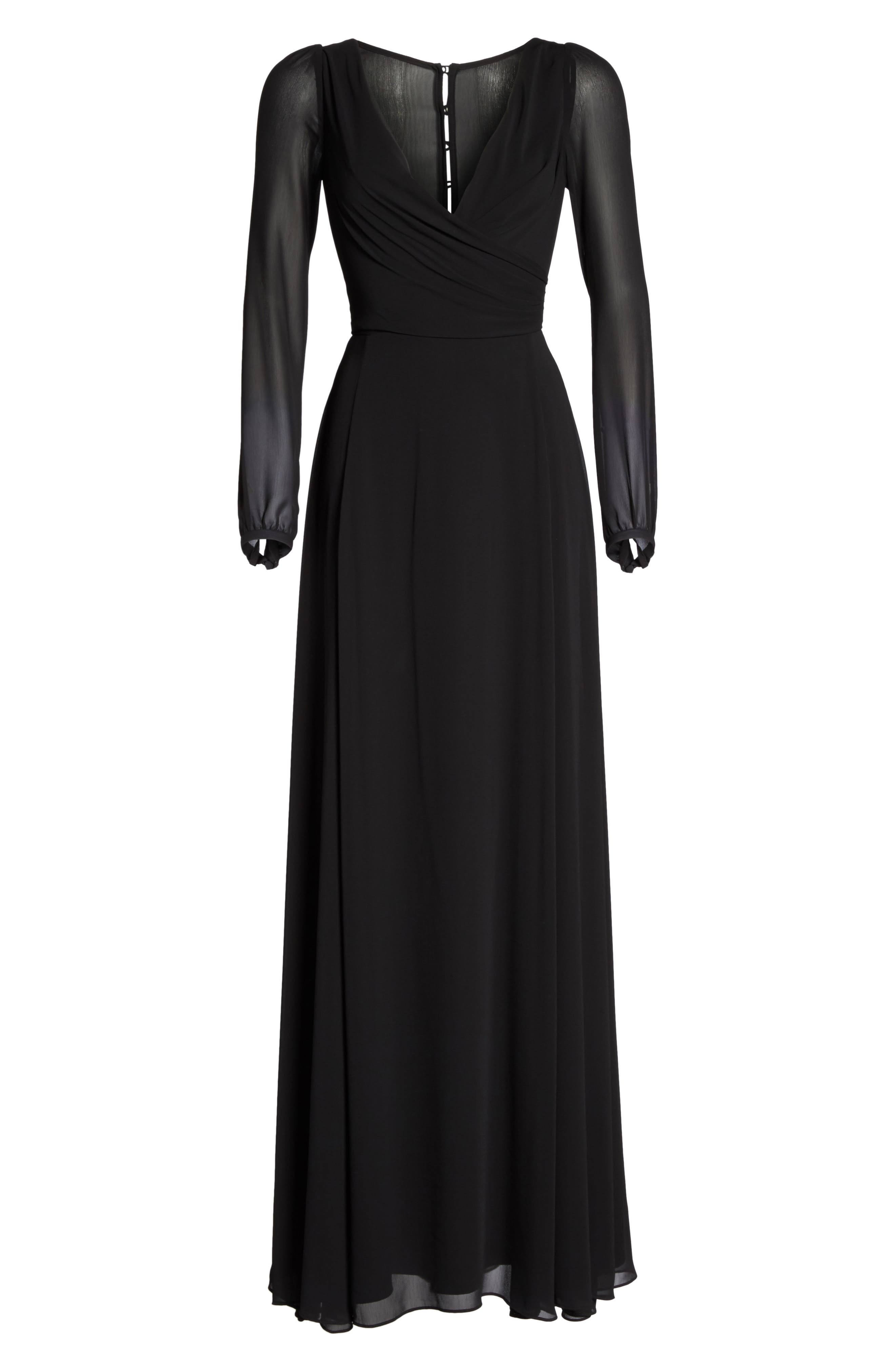 Alternate Image 6  - Watters Donna Luxe Chiffon Surplice A-Line Gown