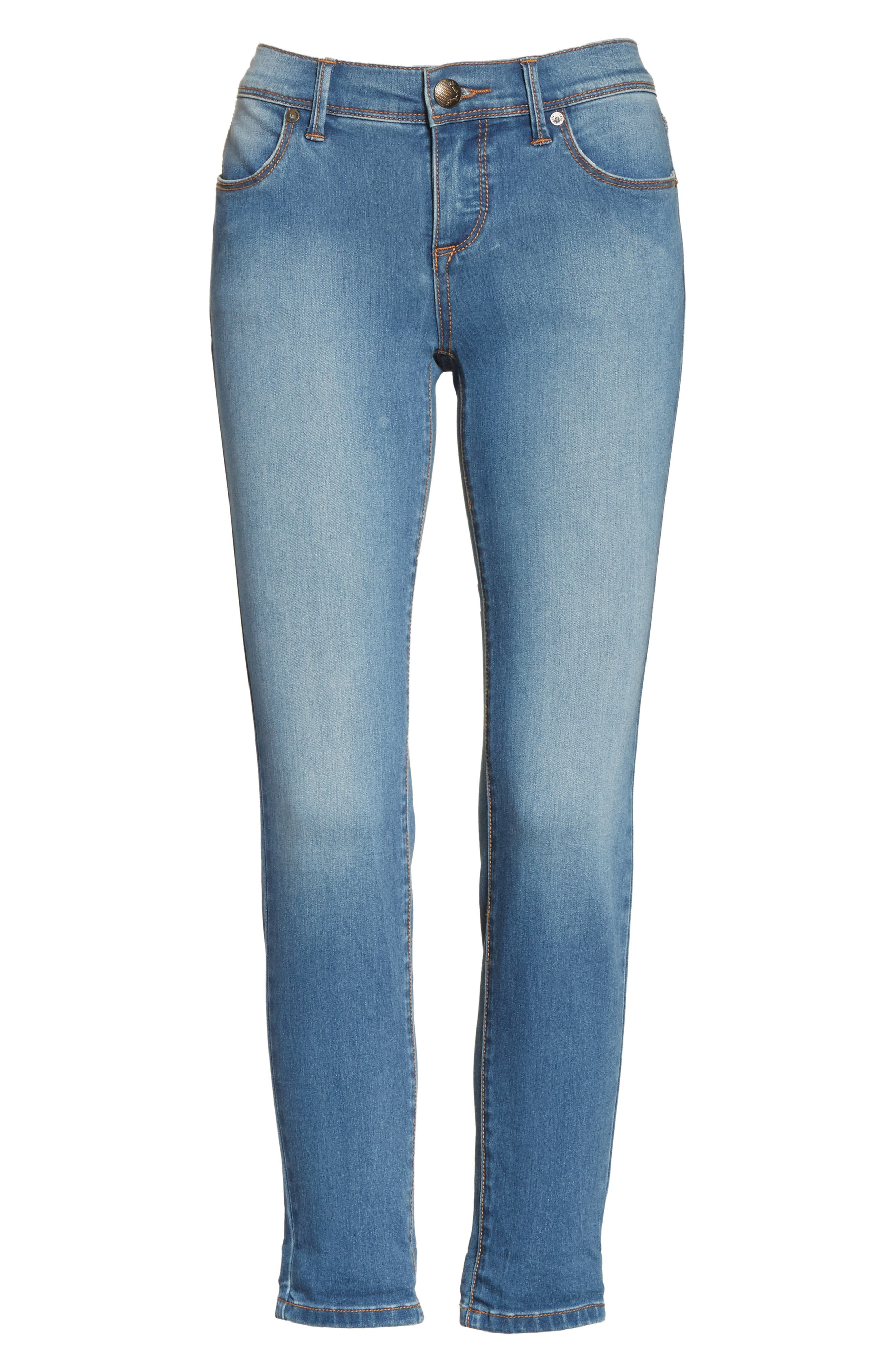 Gummy High Waist Jeans,                         Main,                         color, Light Denim