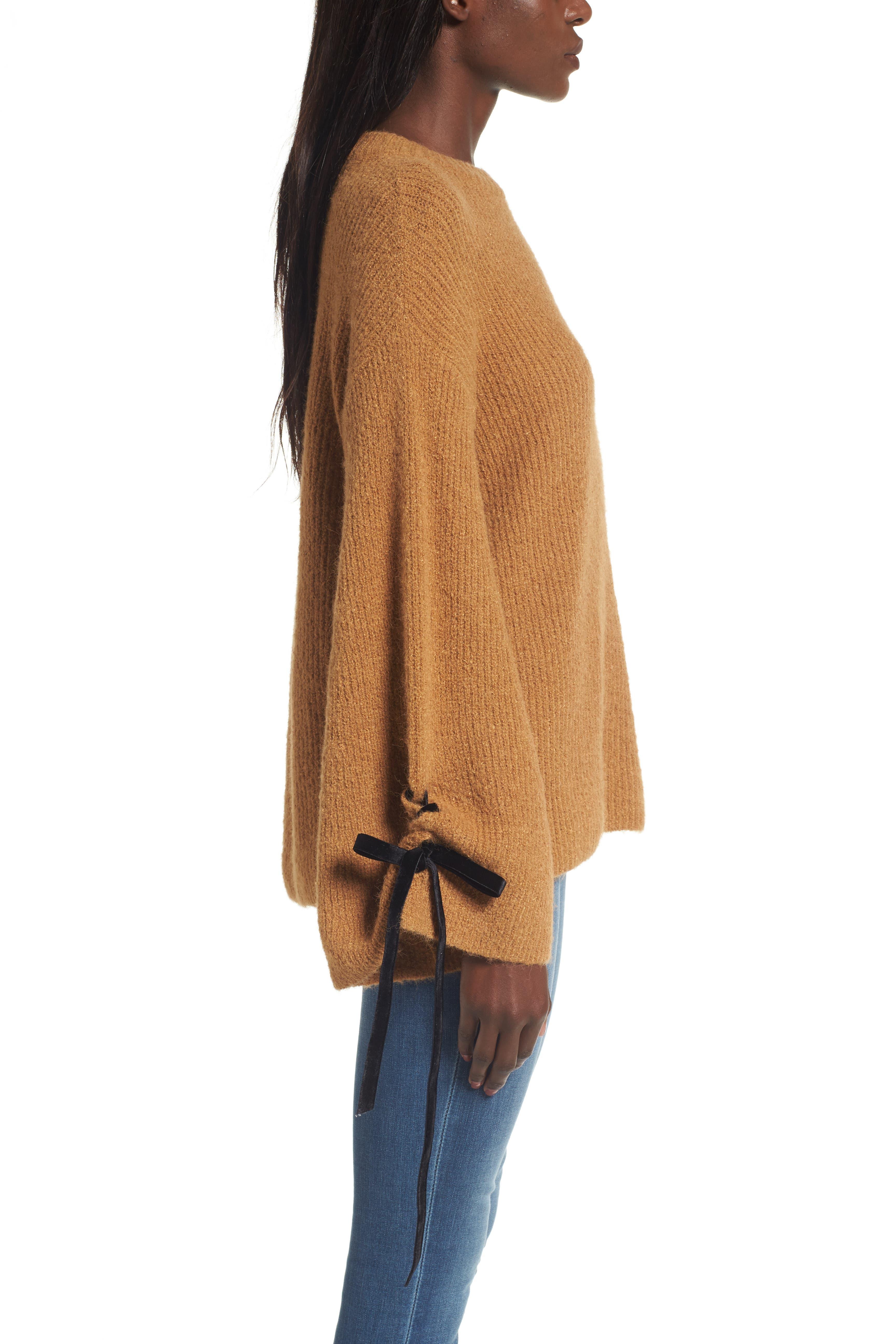 Alternate Image 3  - BP. Lace-Up Sleeve Sweater