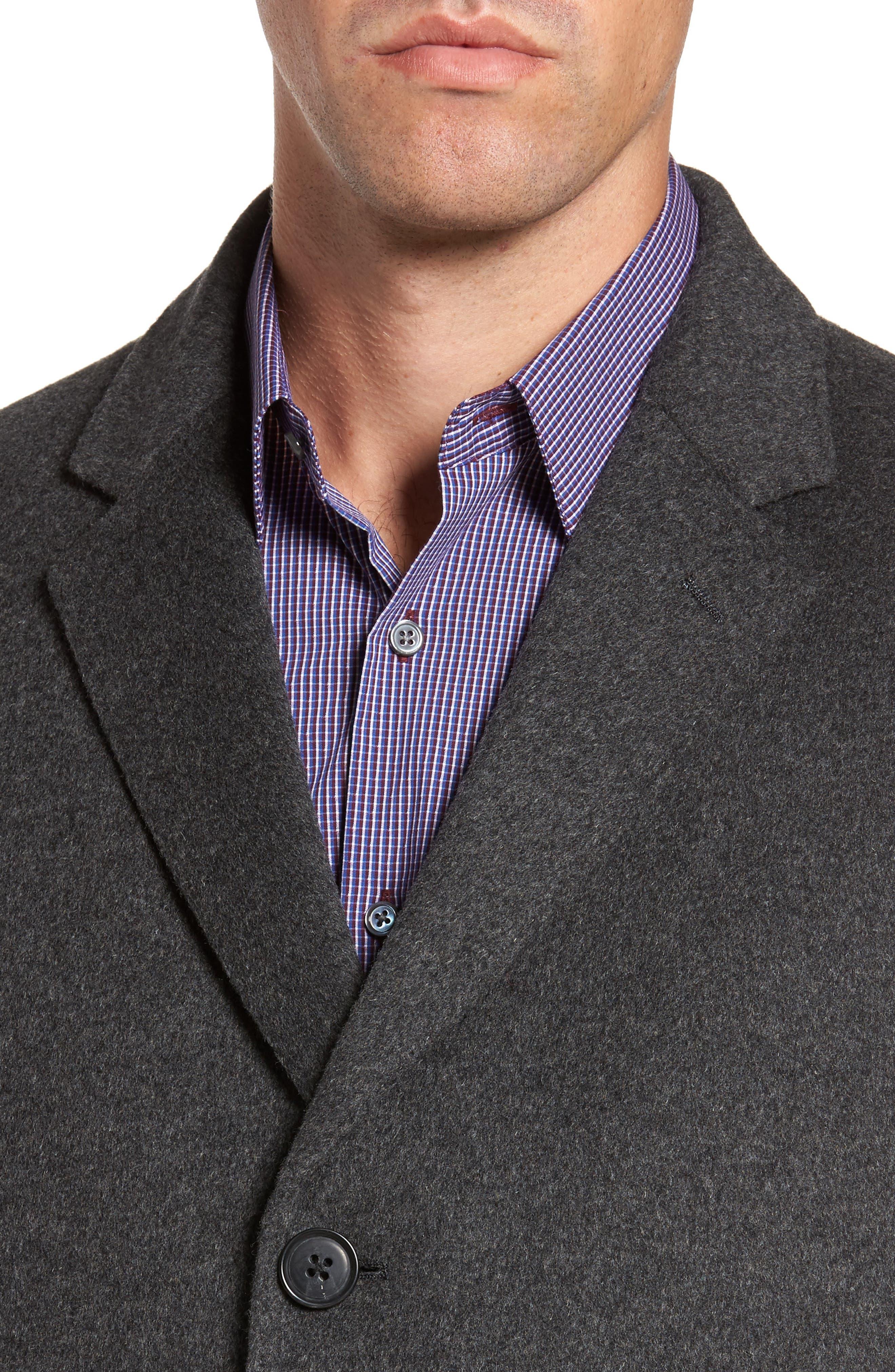 Alternate Image 4  - Nordstrom Men's Shop Mason Wool & Cashmere Overcoat