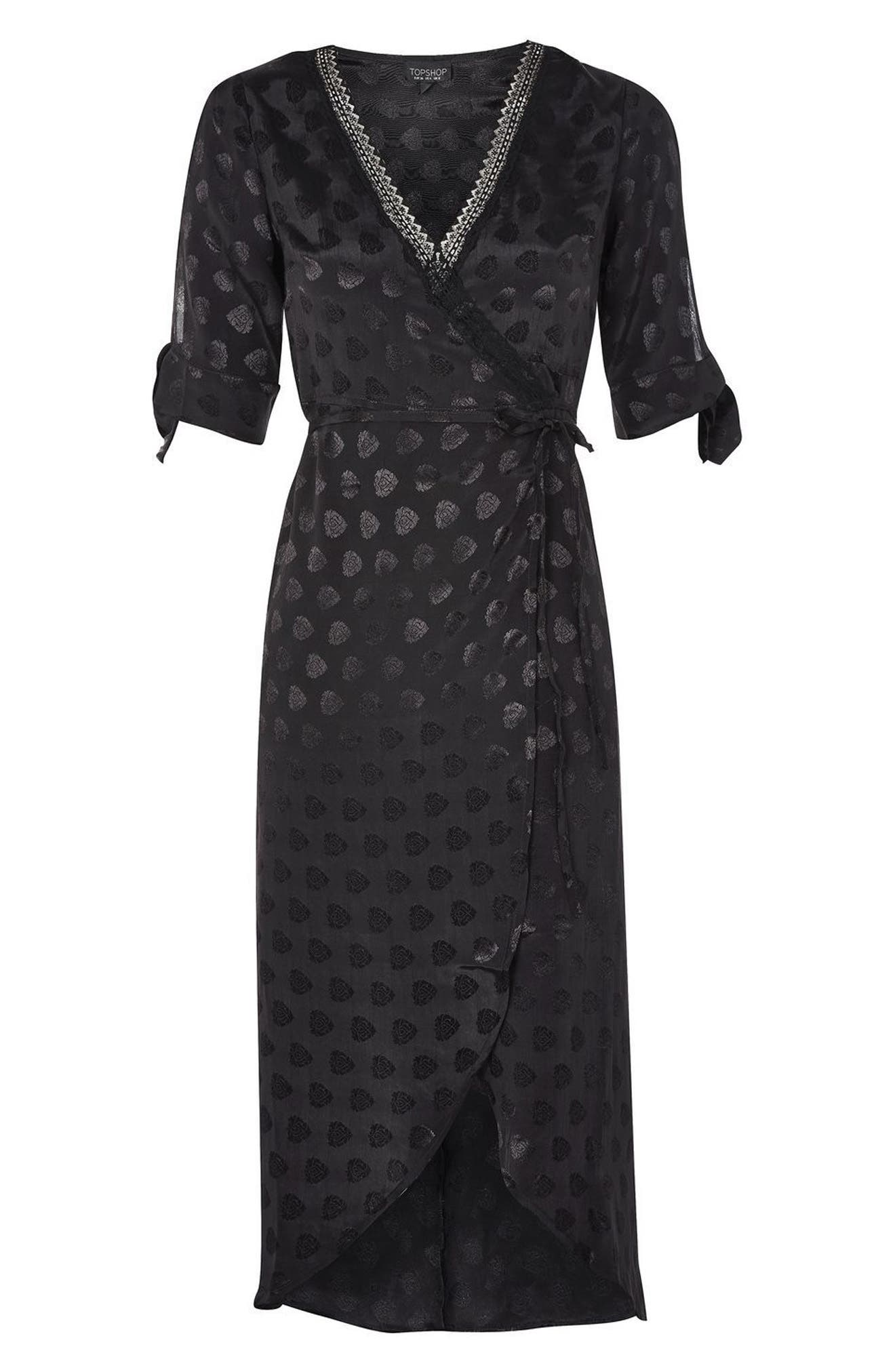 Alternate Image 3  - Topshop Jacquard Wrap Midi Dress