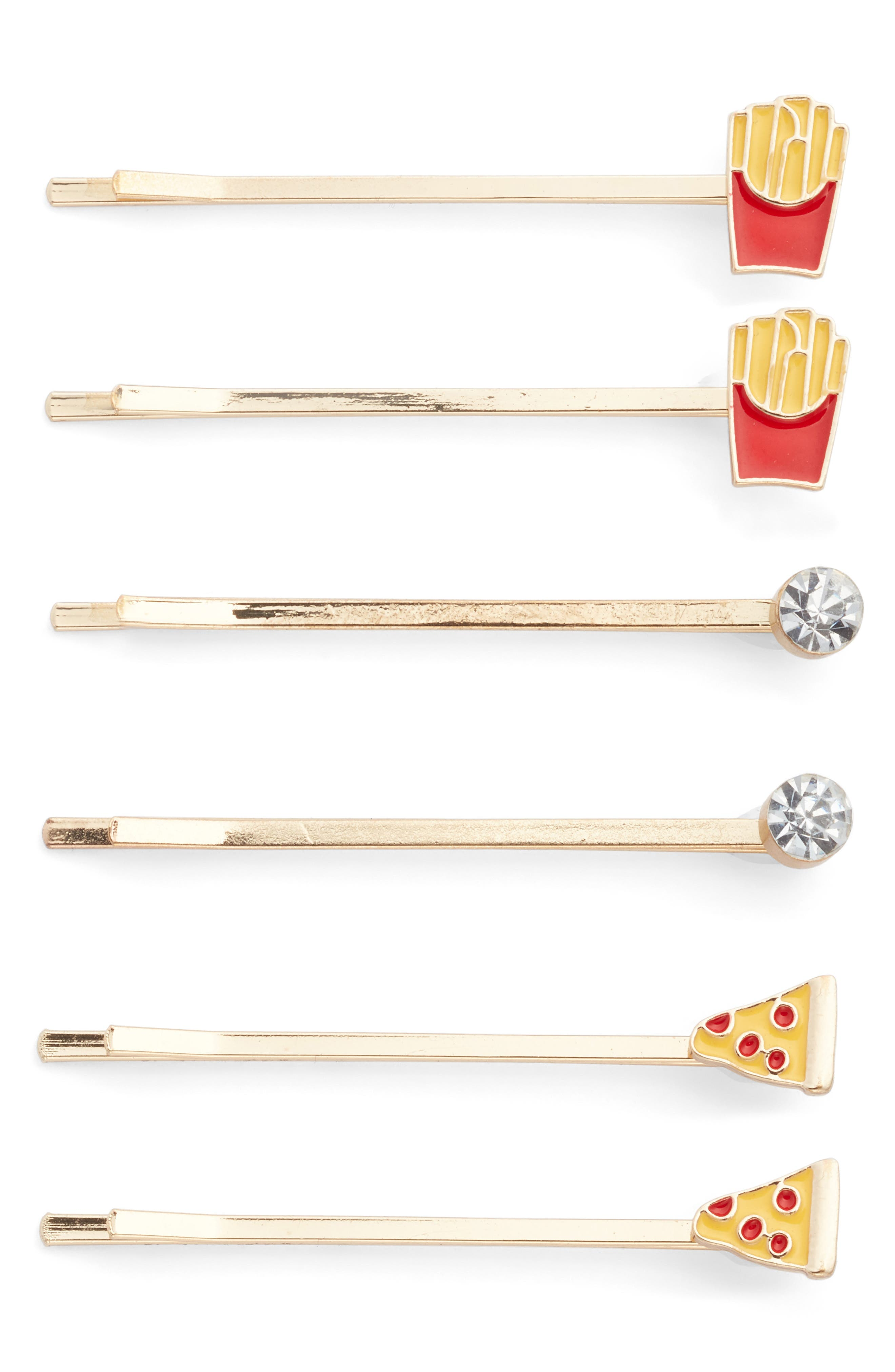 Alternate Image 1 Selected - Capelli New York Junk Food Set of 6 Bobby Pins (Big Girls)