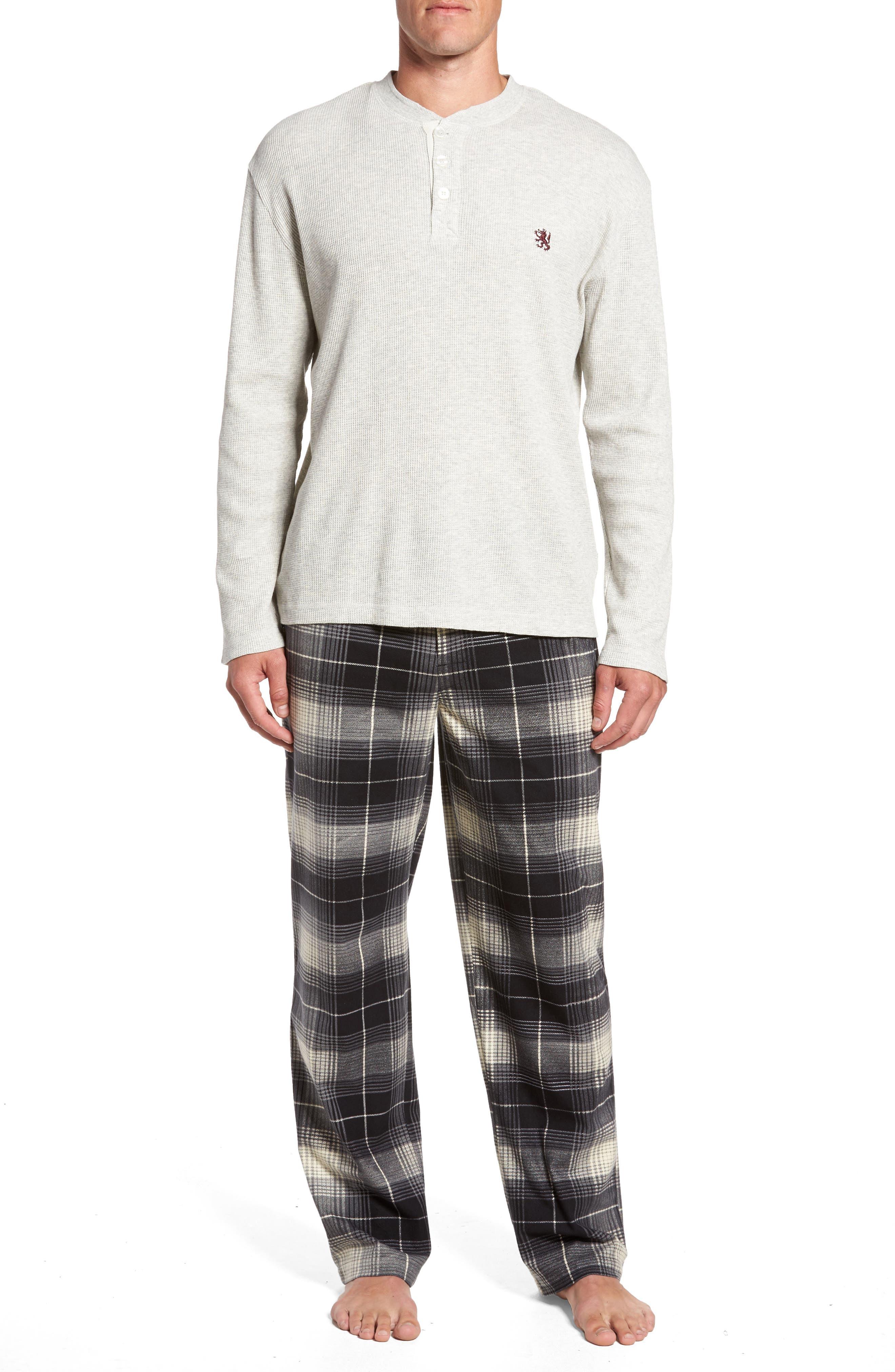 Majestic International Nifty Gift Henley Shirt & Lounge Pants