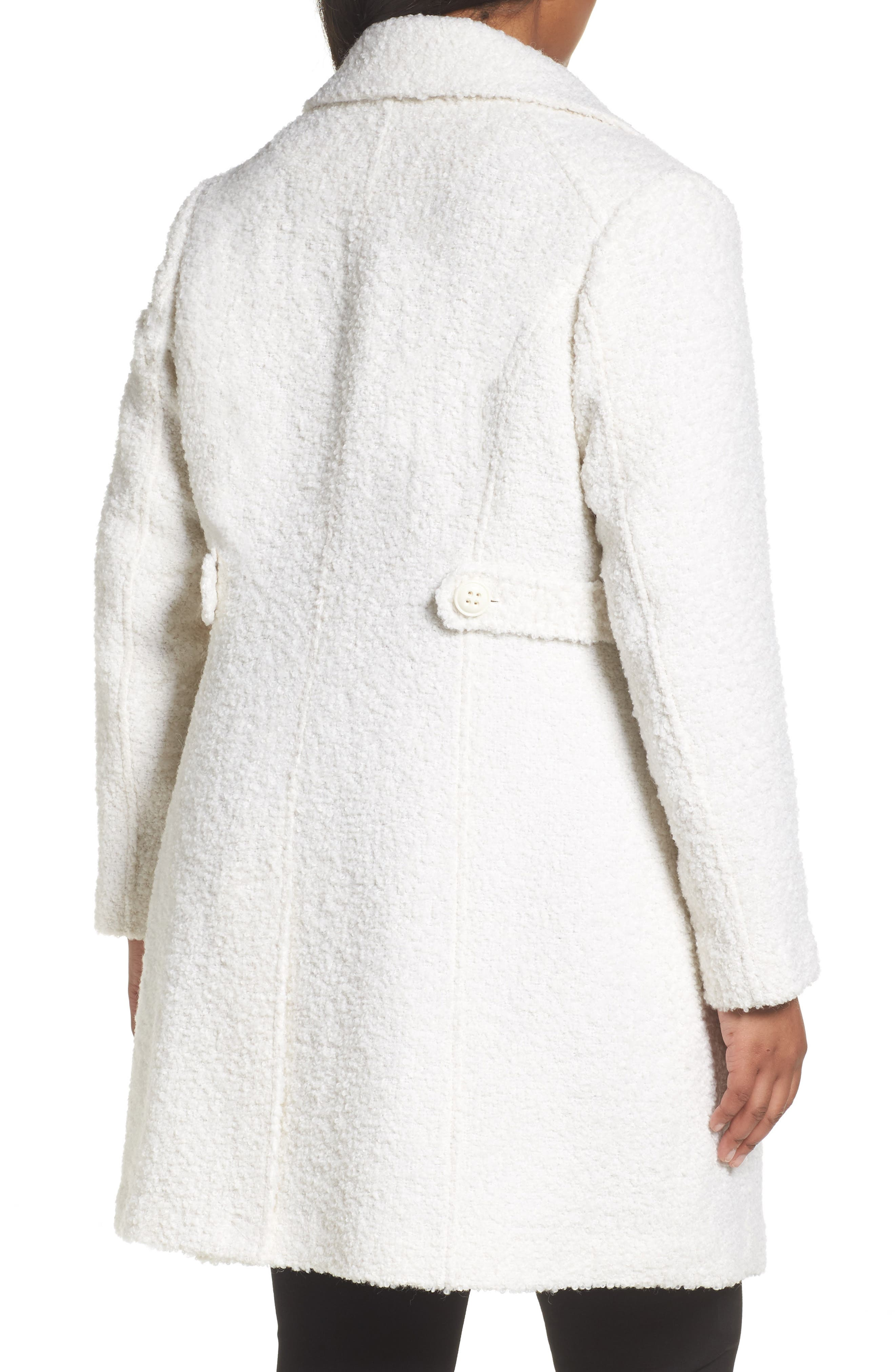 Alternate Image 2  - Gallery Bouclé Coat (Plus Size)