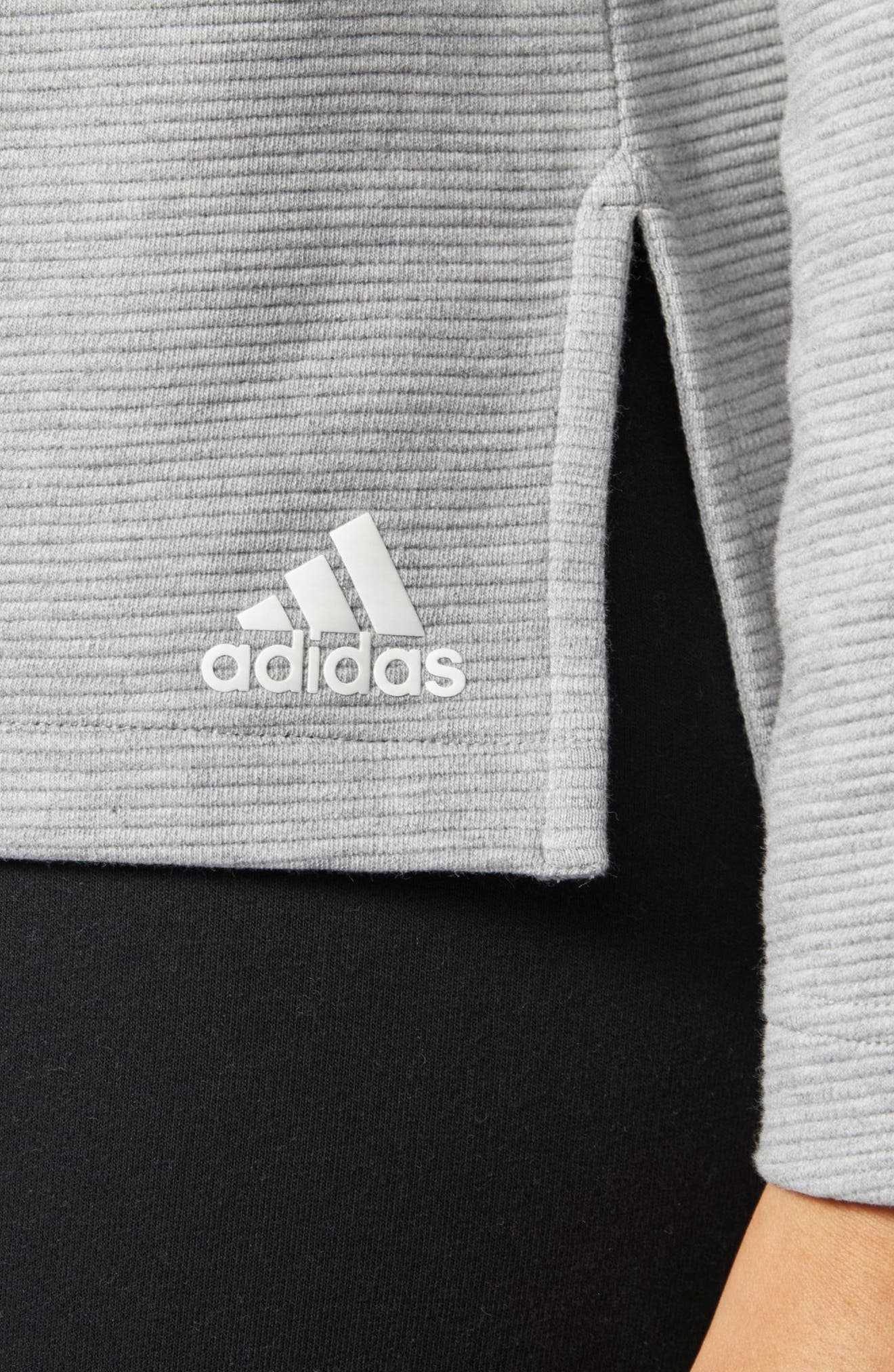 Alternate Image 5  - adidas Zip Fleece Hoodie