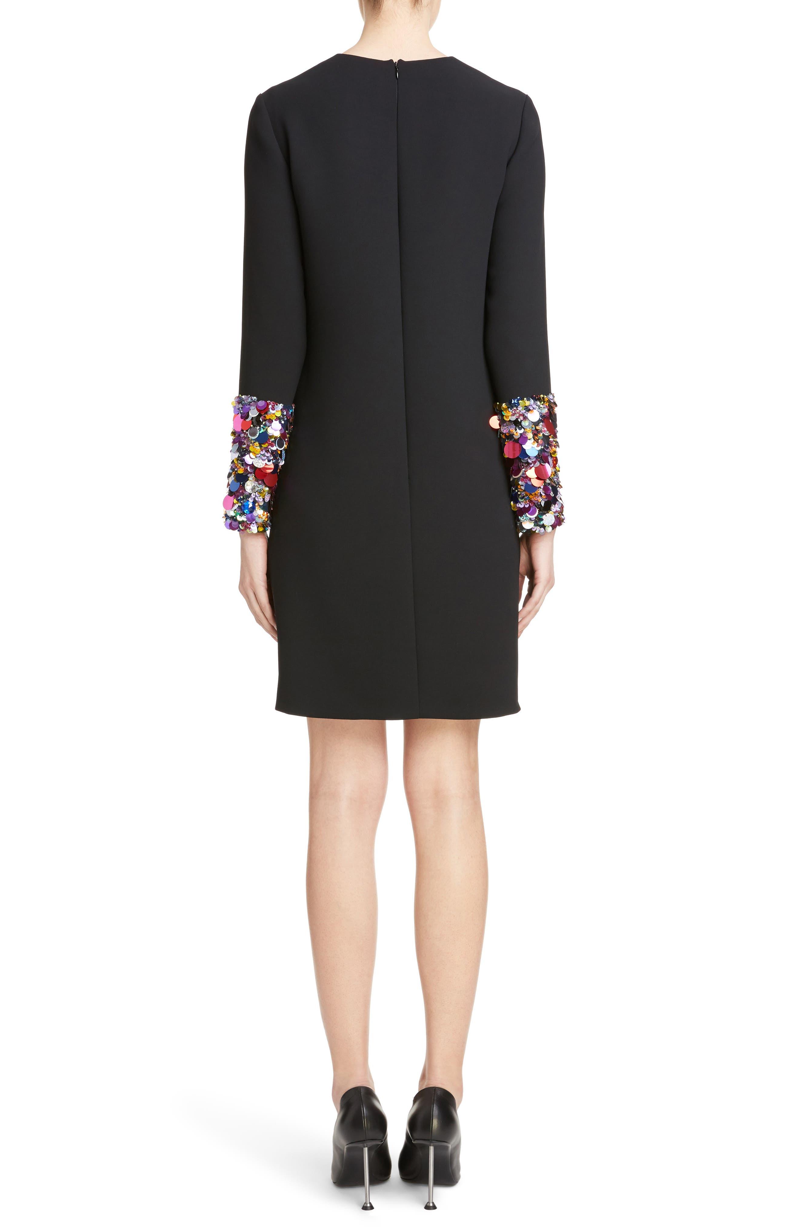 Alternate Image 2  - Victoria, Victoria Beckham Embellished Cuff Shift Dress