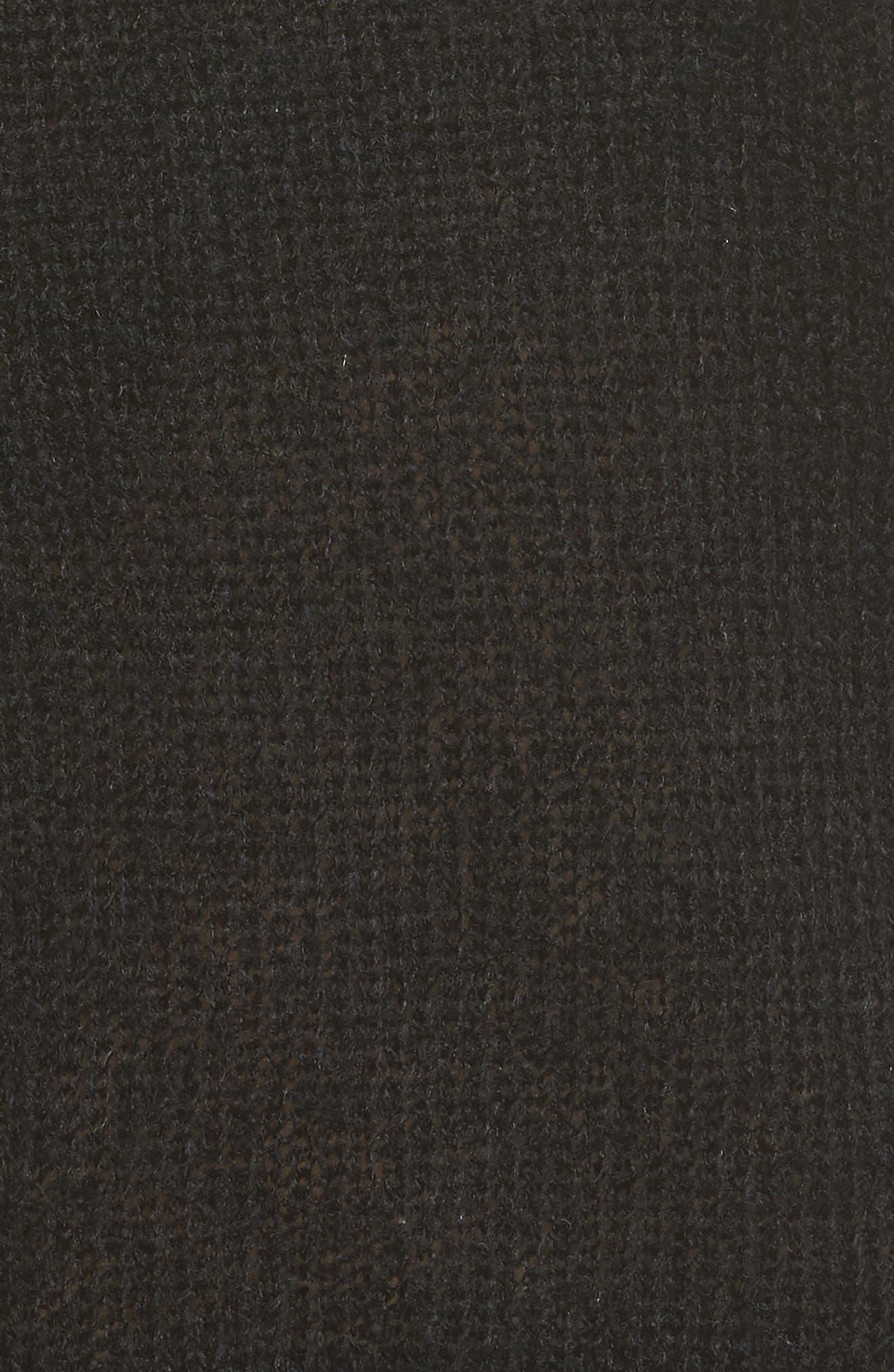 Ruffle One-Shoulder Sweater,                             Alternate thumbnail 5, color,                             Black