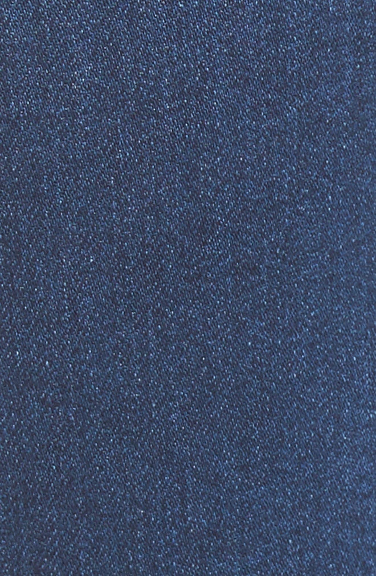 Ruffle Hem Jeans,                             Alternate thumbnail 5, color,                             Med Wash