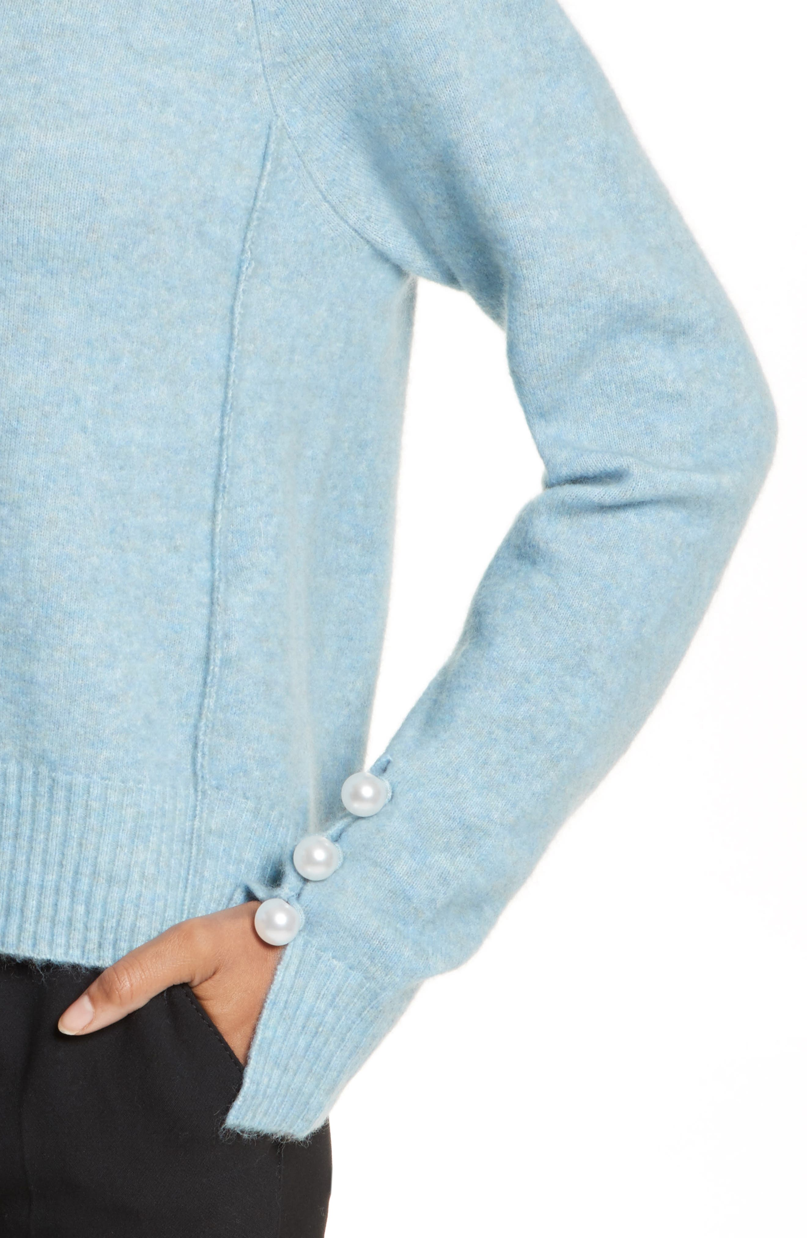 Alternate Image 4  - 3.1 Phillip Lim Faux Pearl Cuff Knit Pullover