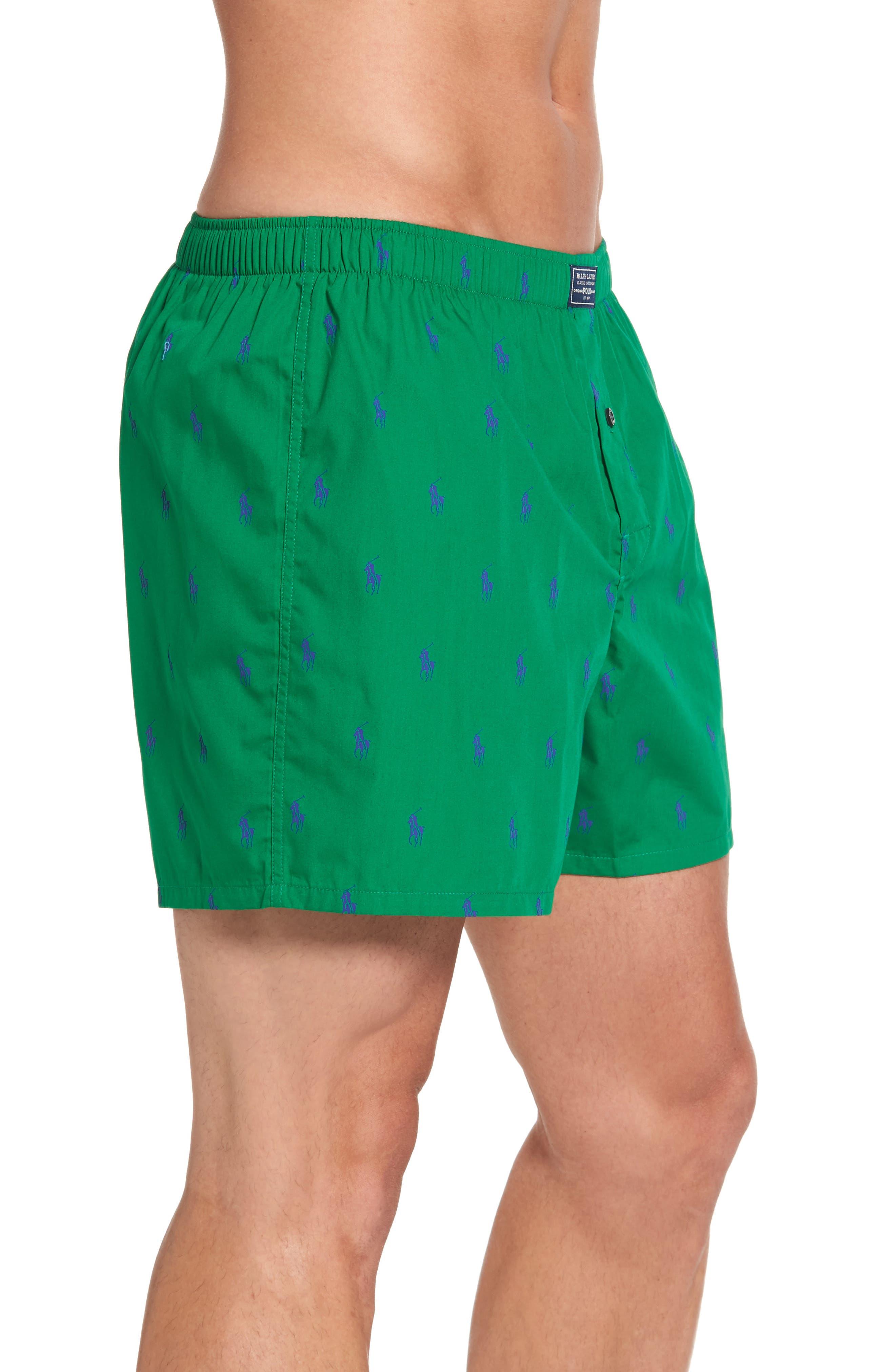 Pony Cotton Boxers,                             Alternate thumbnail 3, color,                             English Green