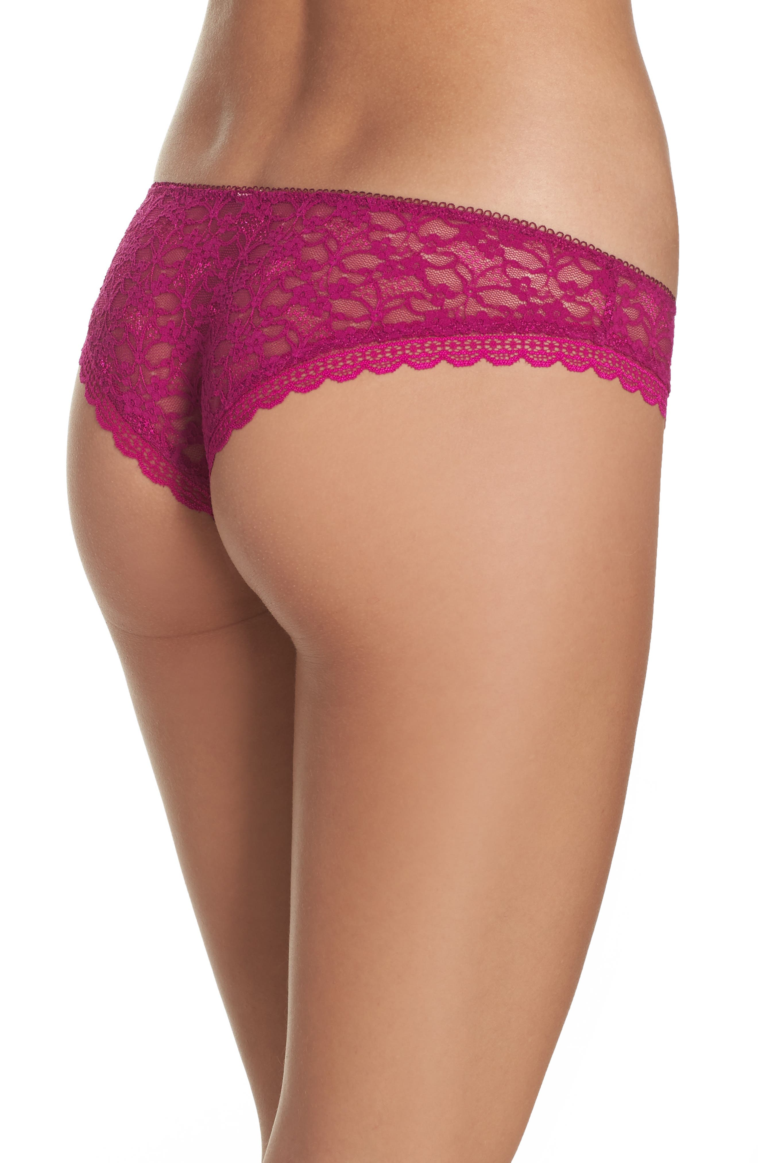 Intimately FP Lace Hipster Briefs,                             Alternate thumbnail 2, color,                             Dark Pink