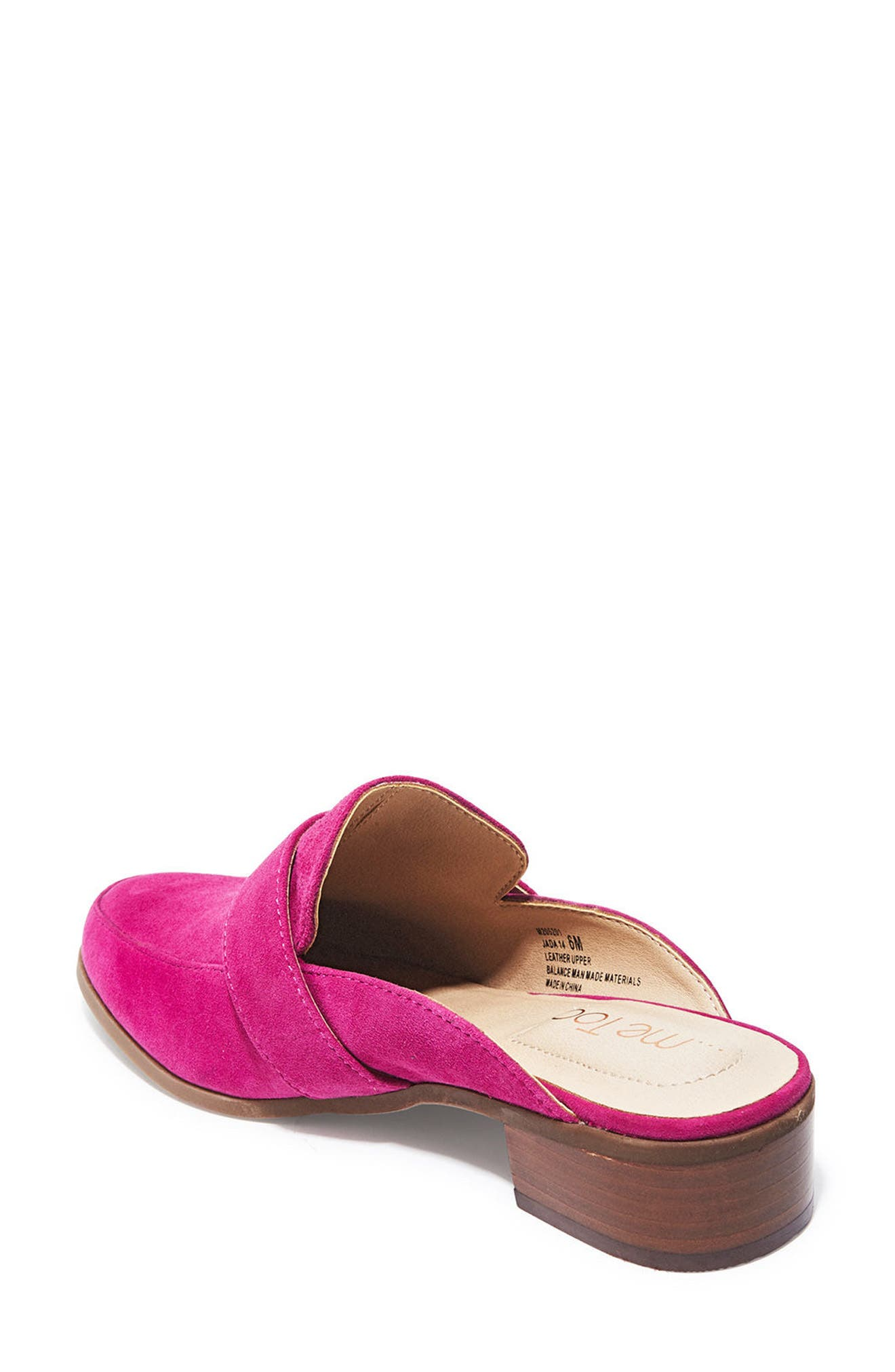 Jada Loafer Mule,                             Alternate thumbnail 2, color,                             Fuchsia Suede