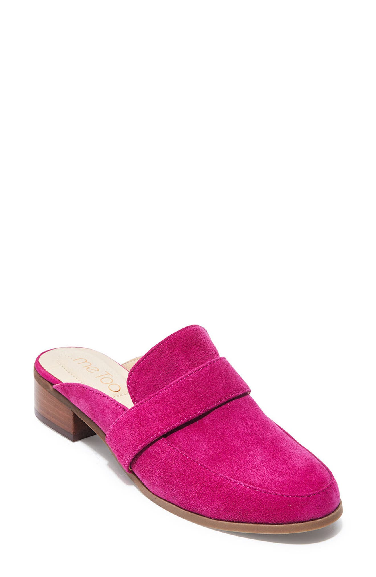 Jada Loafer Mule,                             Main thumbnail 1, color,                             Fuchsia Suede