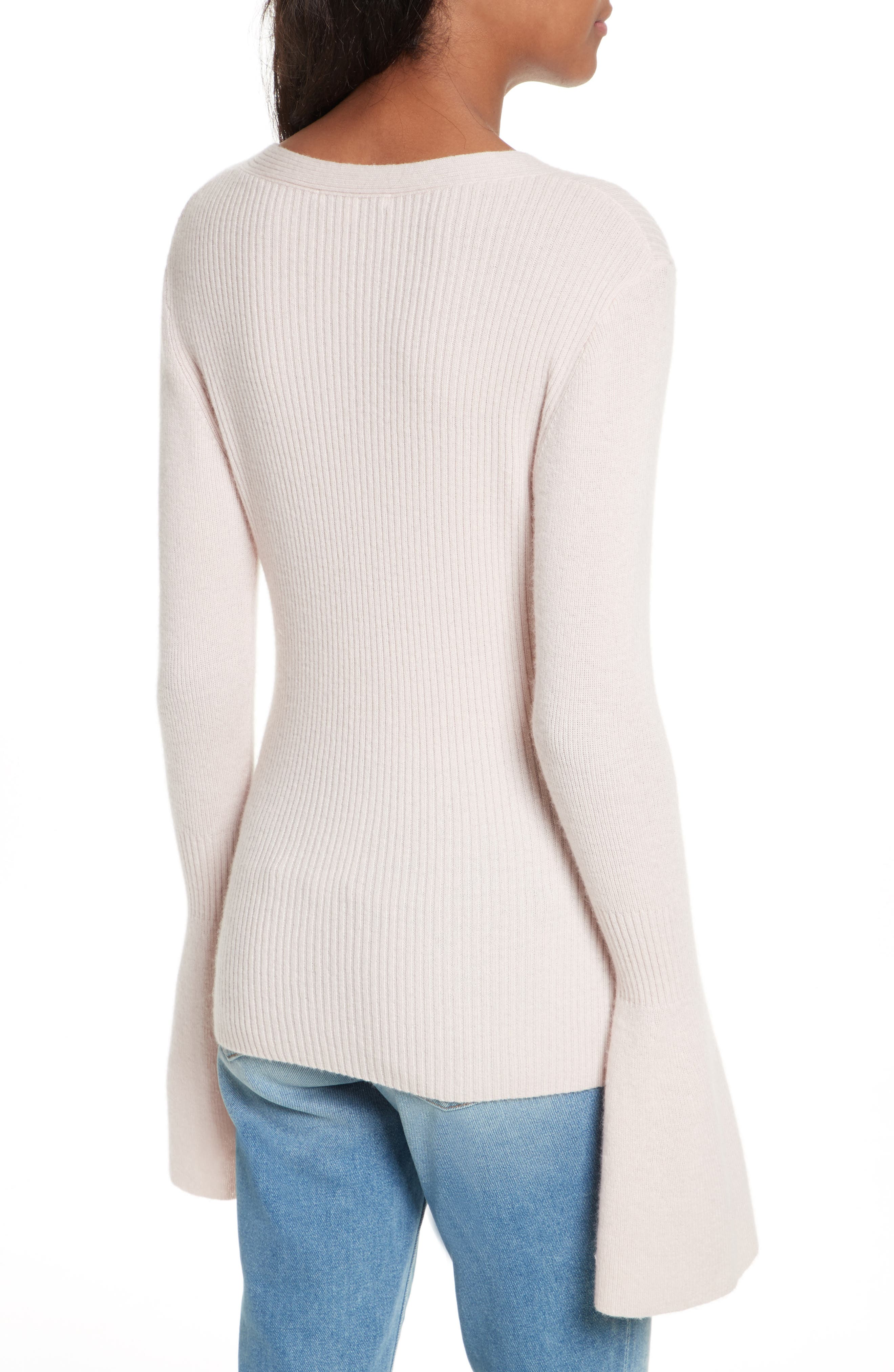 Stevie Bell Sleeve Sweater,                             Alternate thumbnail 2, color,                             Soft Pink