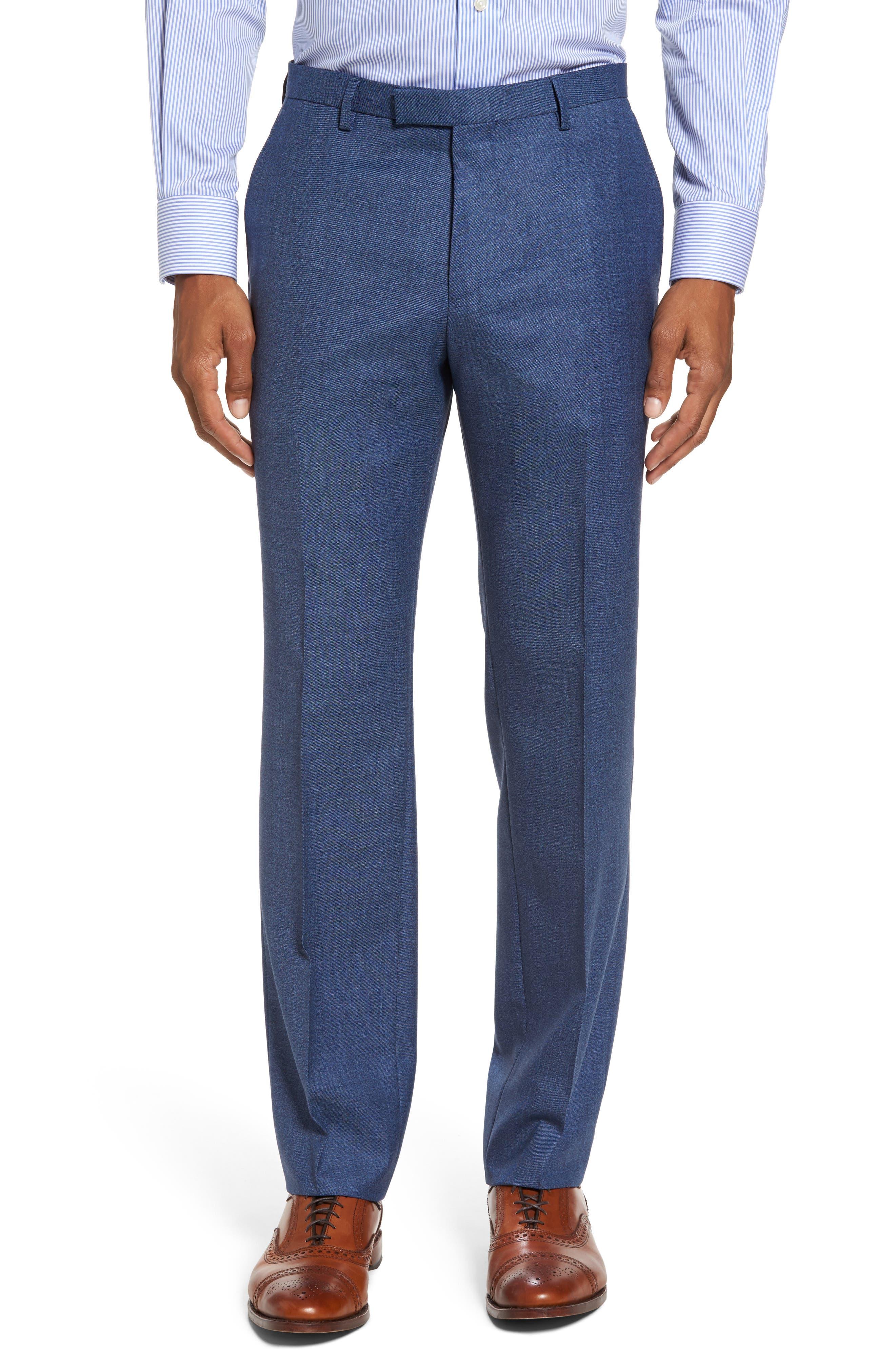 Johnstons/Lenon Classic Fit Solid Wool Suit,                             Alternate thumbnail 6, color,                             Medium Blue