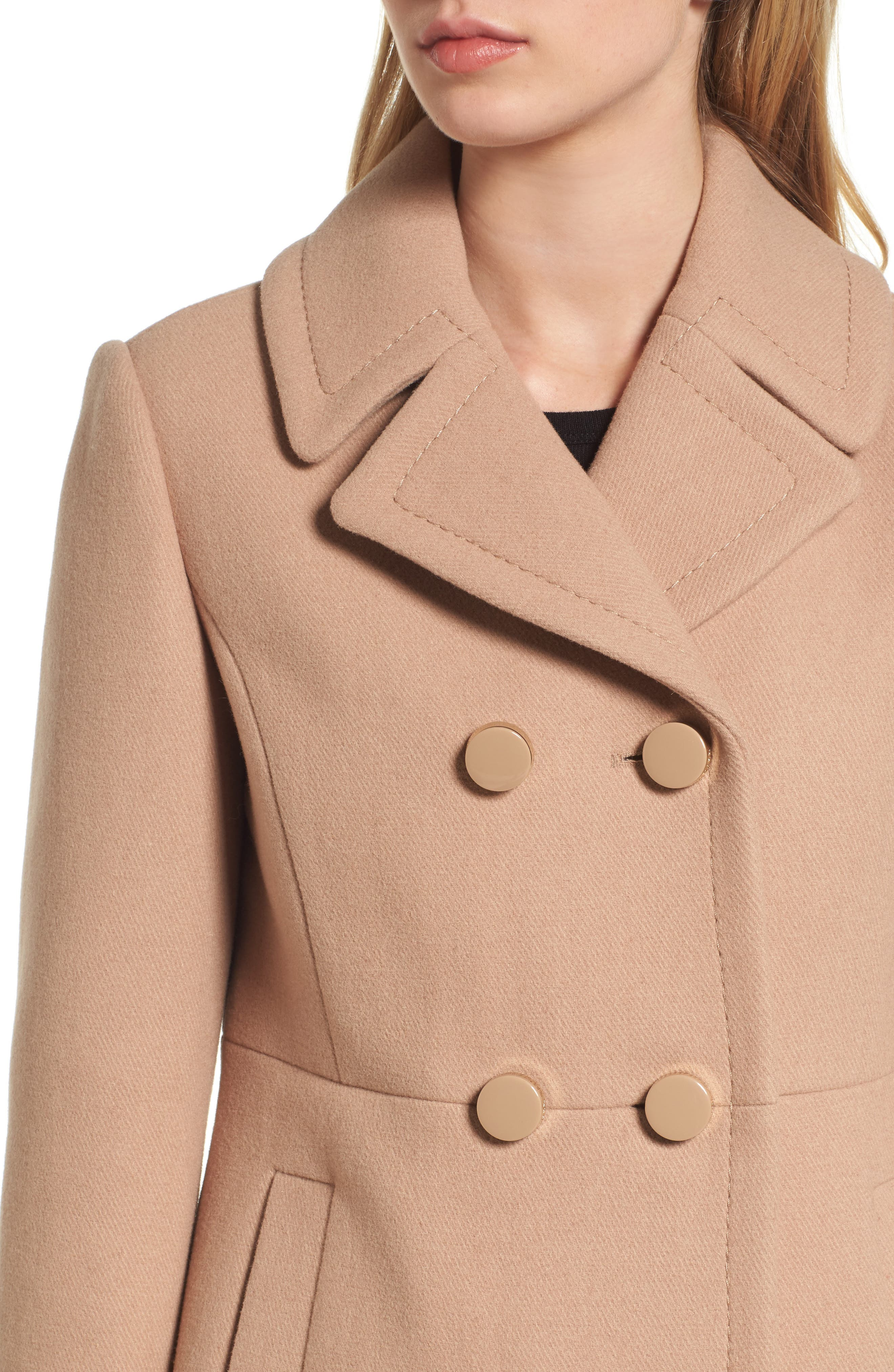 Alternate Image 4  - kate spade new york double breasted coat