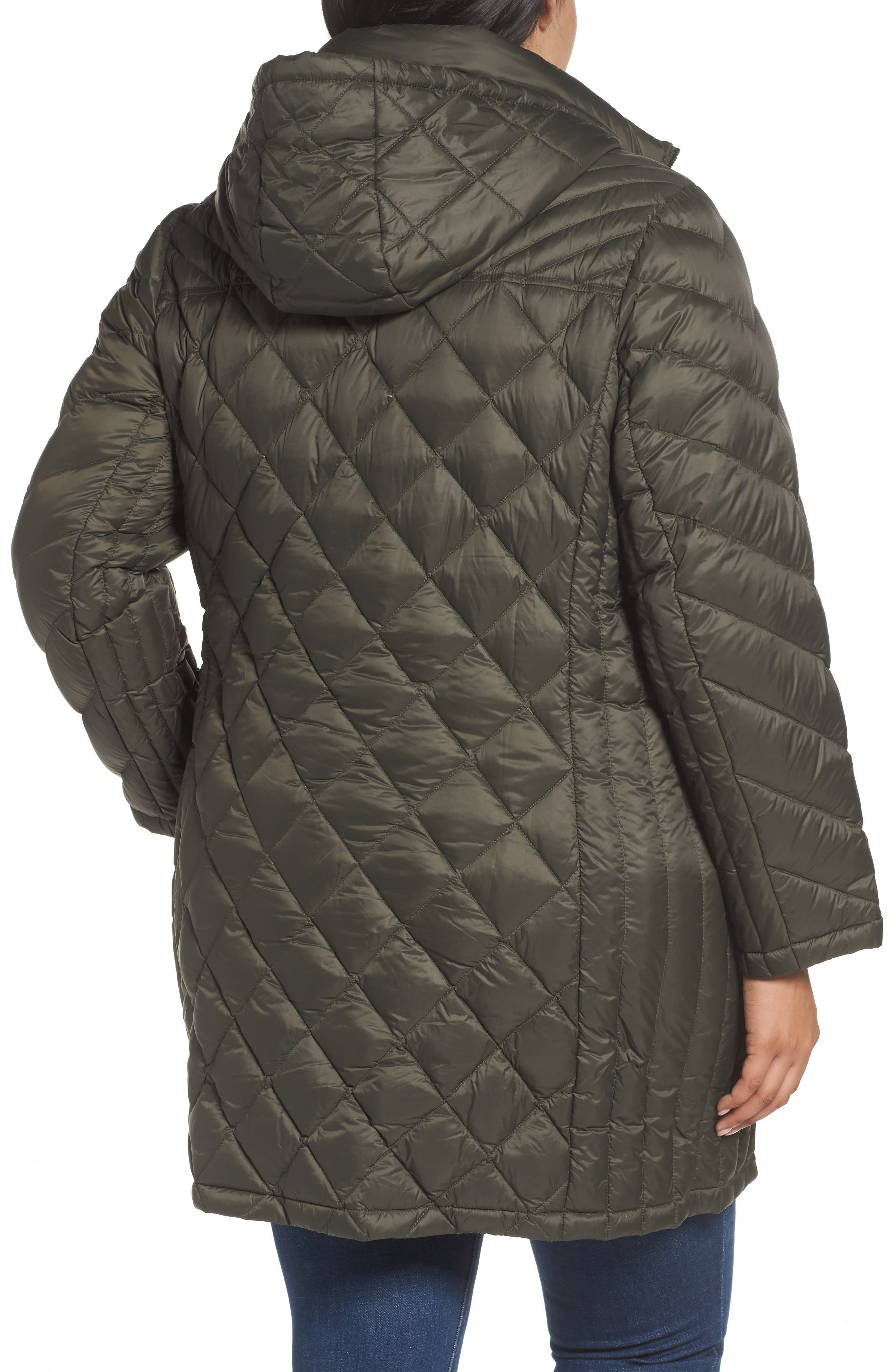 Alternate Image 2  - MICHAEL Michael Kors Packable Down Jacket (Plus Size)