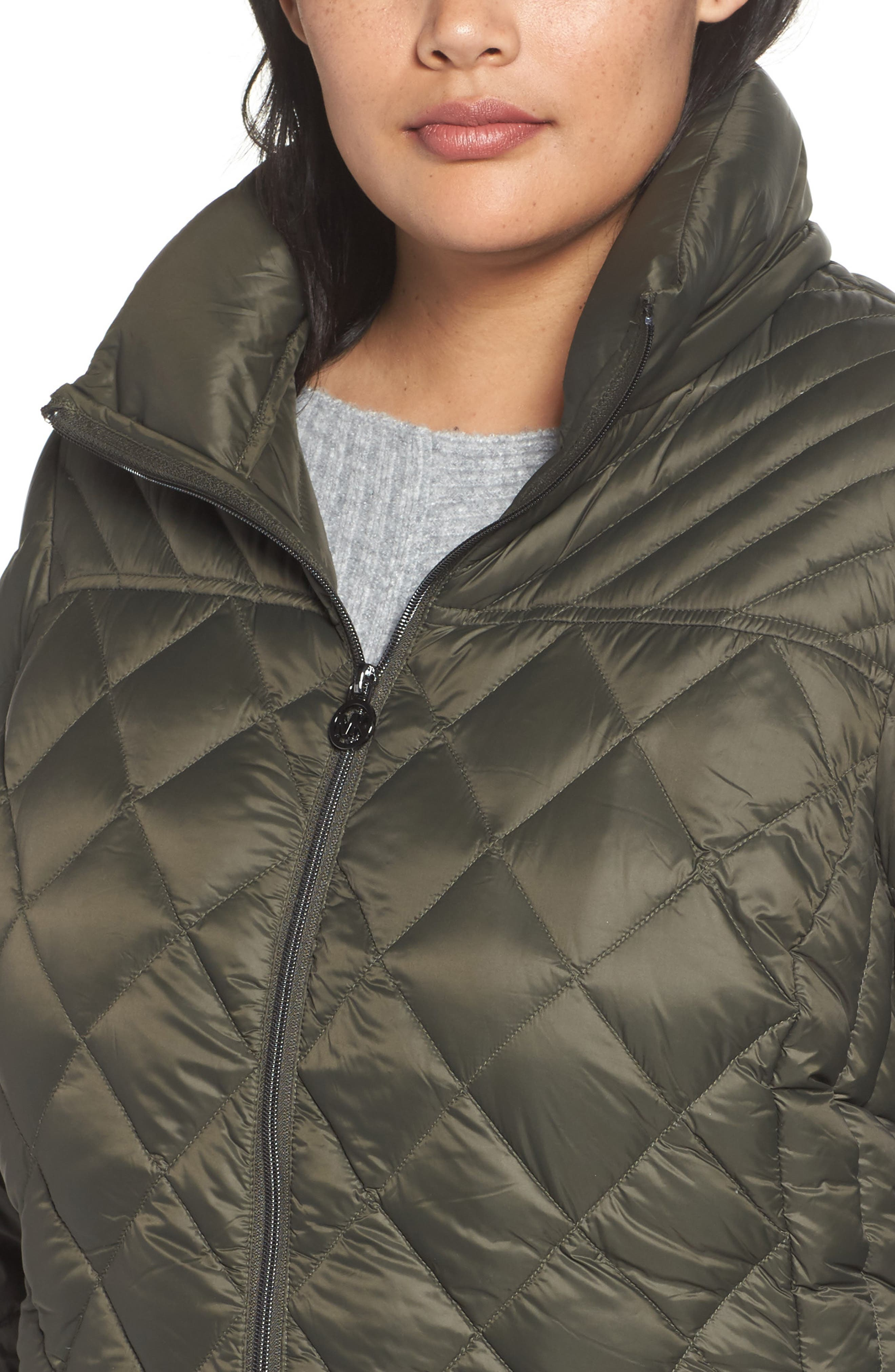 Alternate Image 4  - MICHAEL Michael Kors Packable Down Jacket (Plus Size)