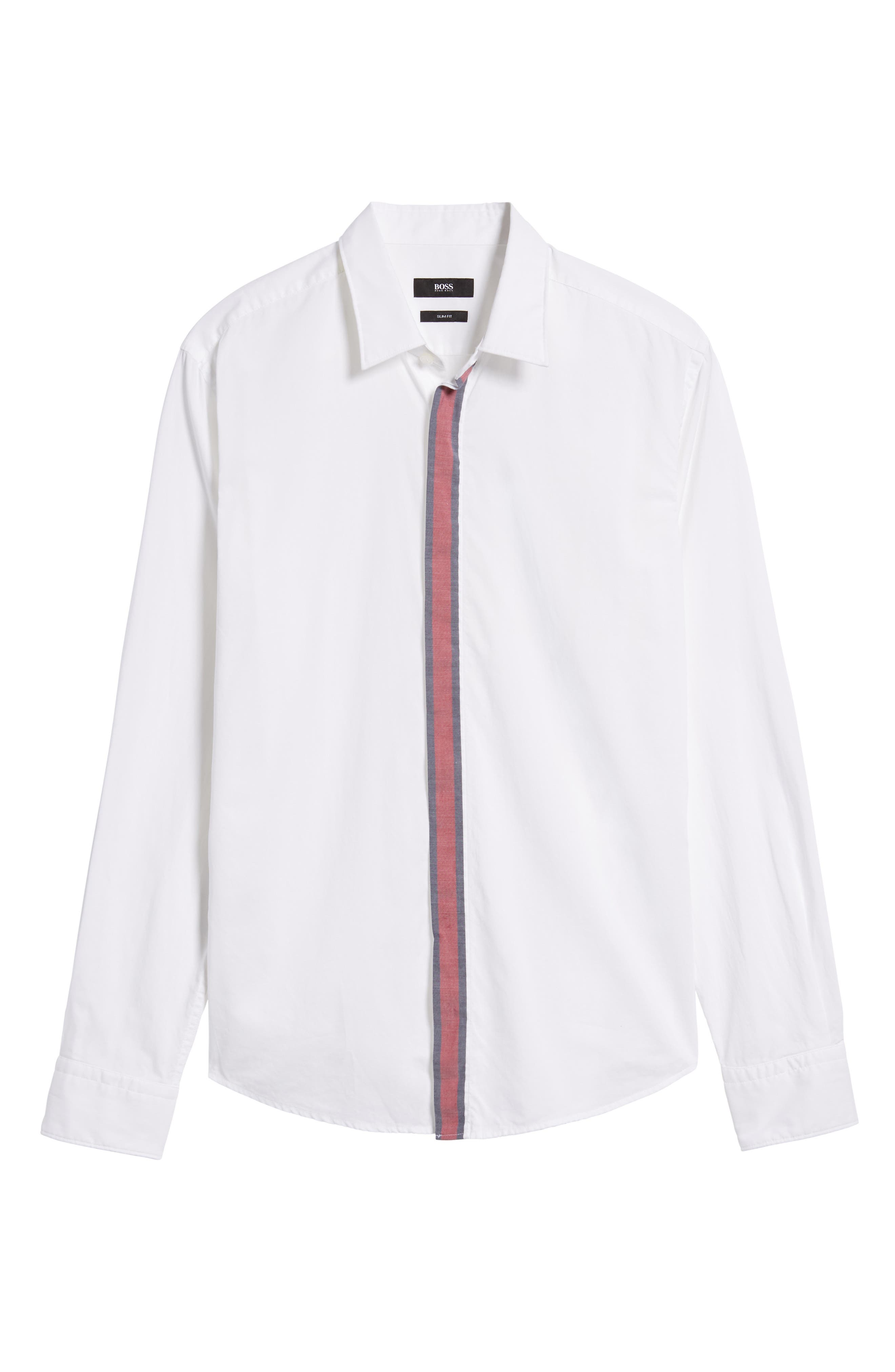 Alternate Image 5  - BOSS Reid Slim Fit Contrast Placket Sport Shirt
