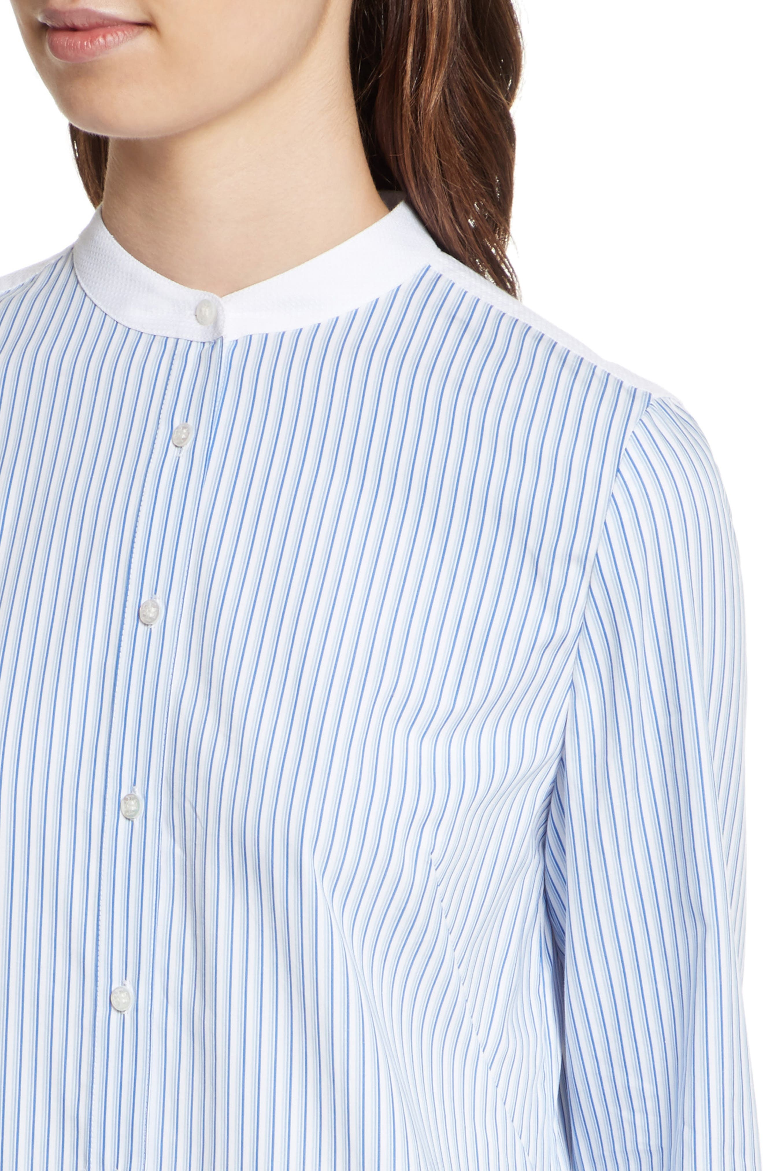 Alternate Image 4  - Tory Burch Cora Stripe Shirtdress