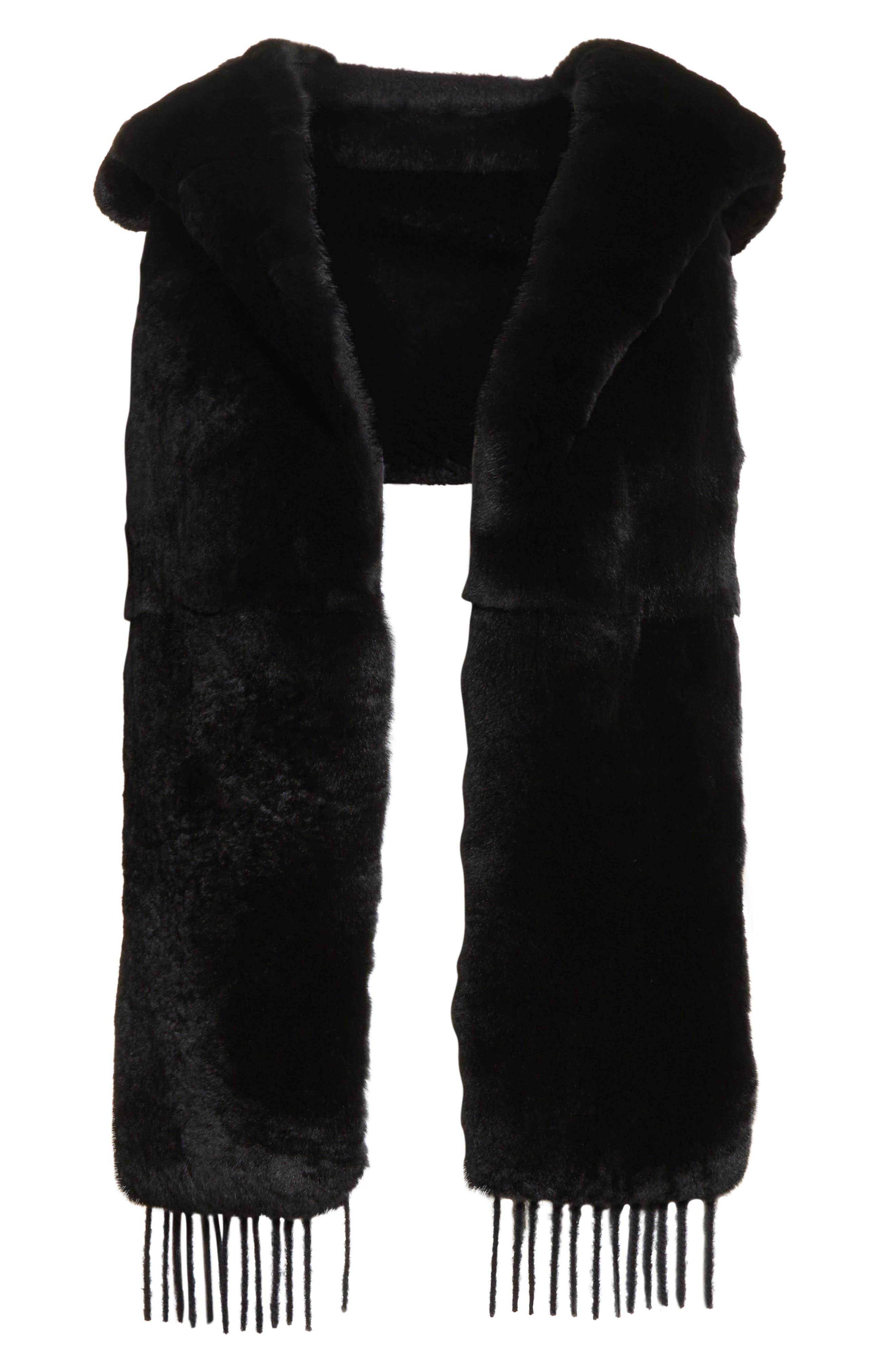 Alternate Image 3  - Max Mara Genuine Rabbit Fur Scarf