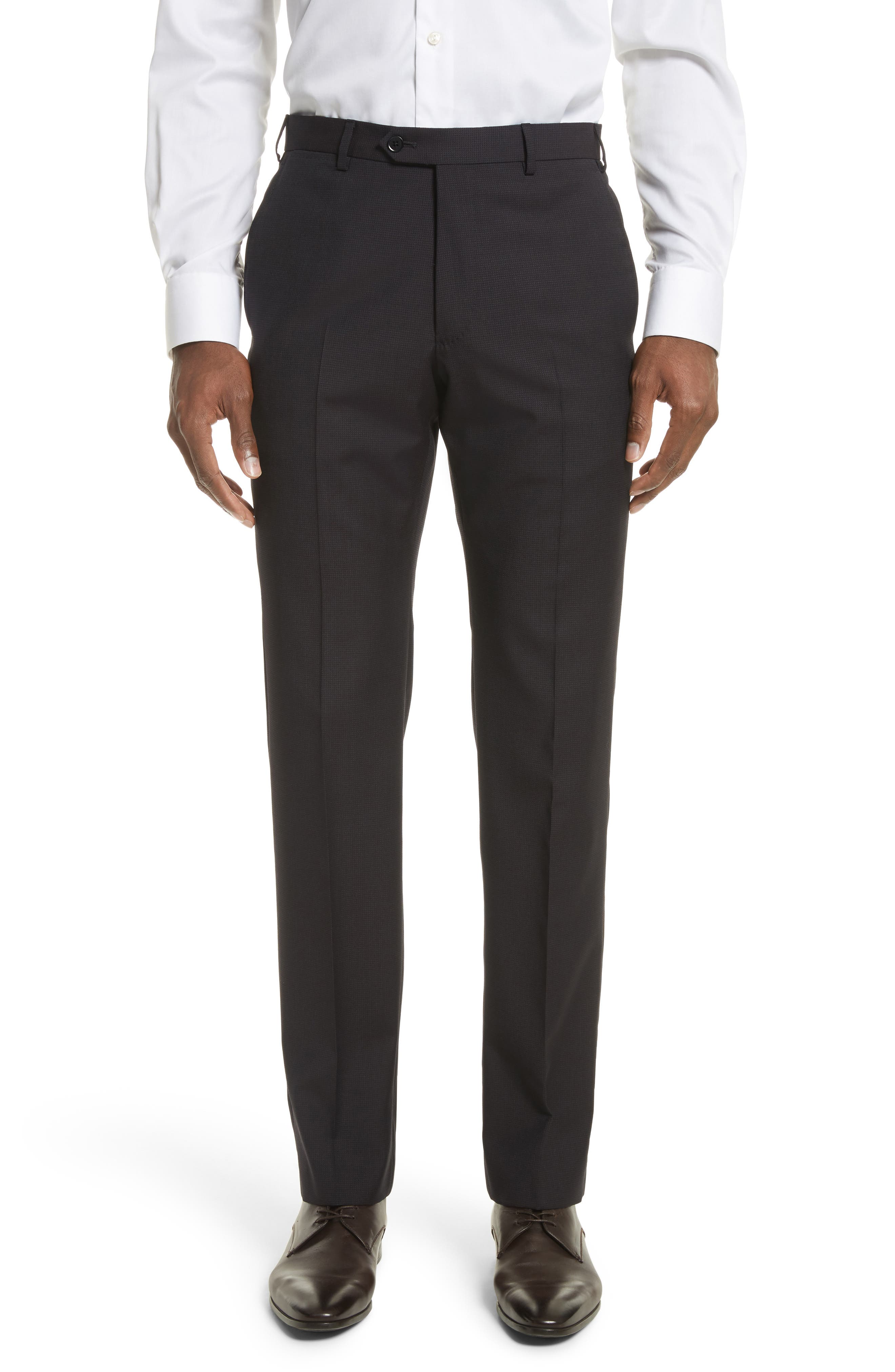 Emporio Armani M-Line Trim Fit Solid Wool Suit,                             Alternate thumbnail 6, color,                             Solid Dark Red