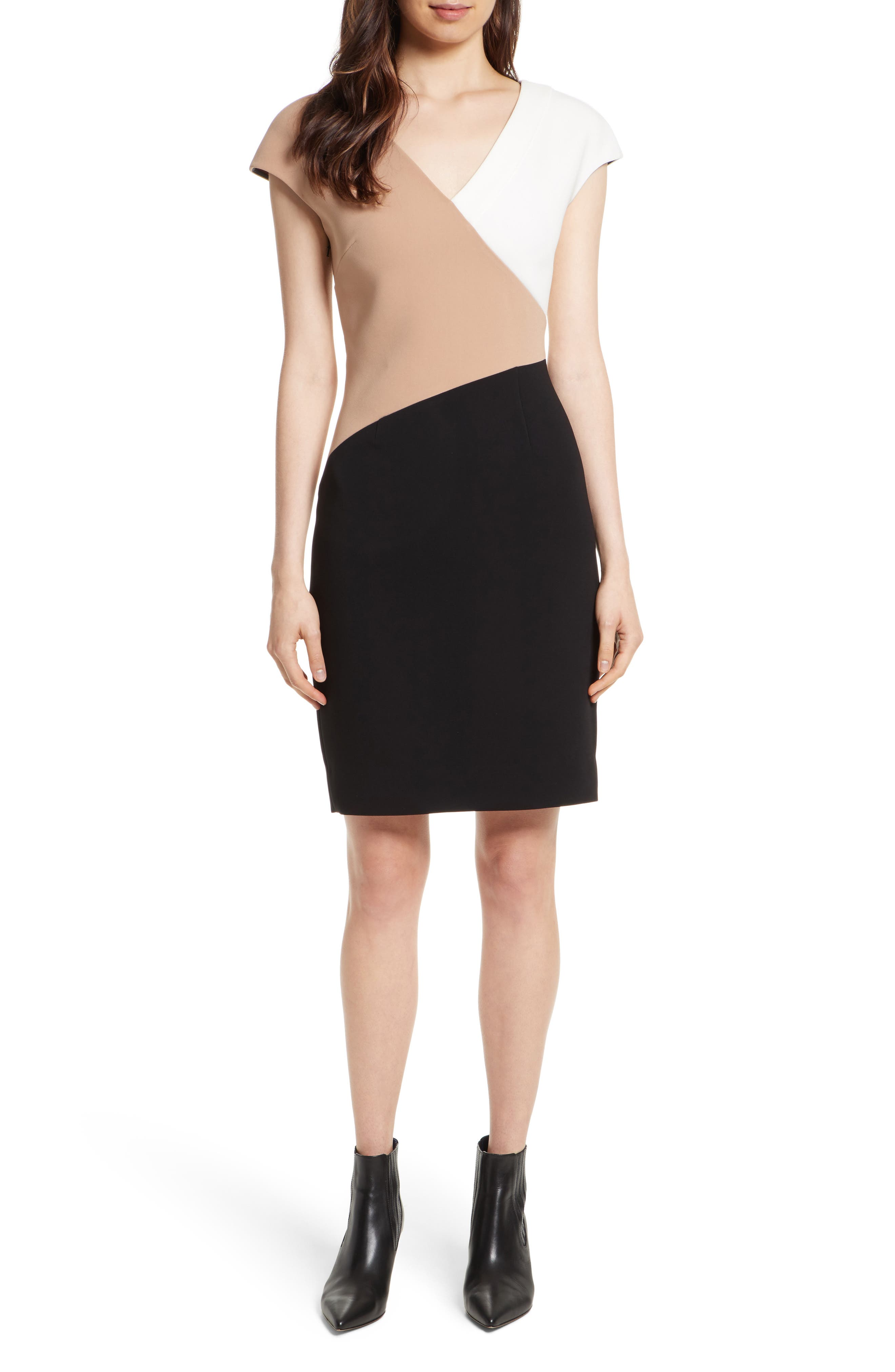 Diane von Furstenberg Colorblock Sheath Dress