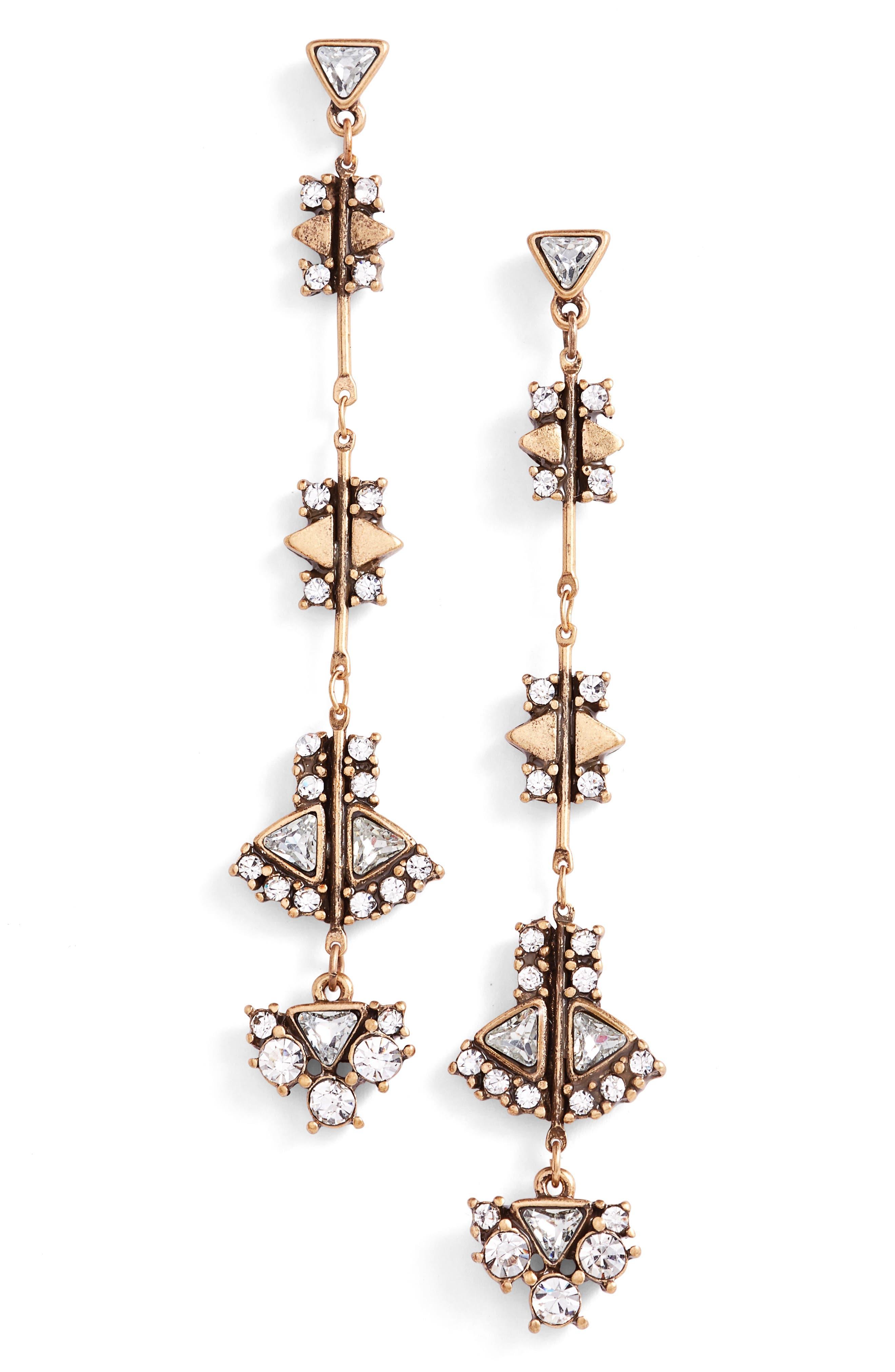 TREASURE & BOND Linear Drop Earrings