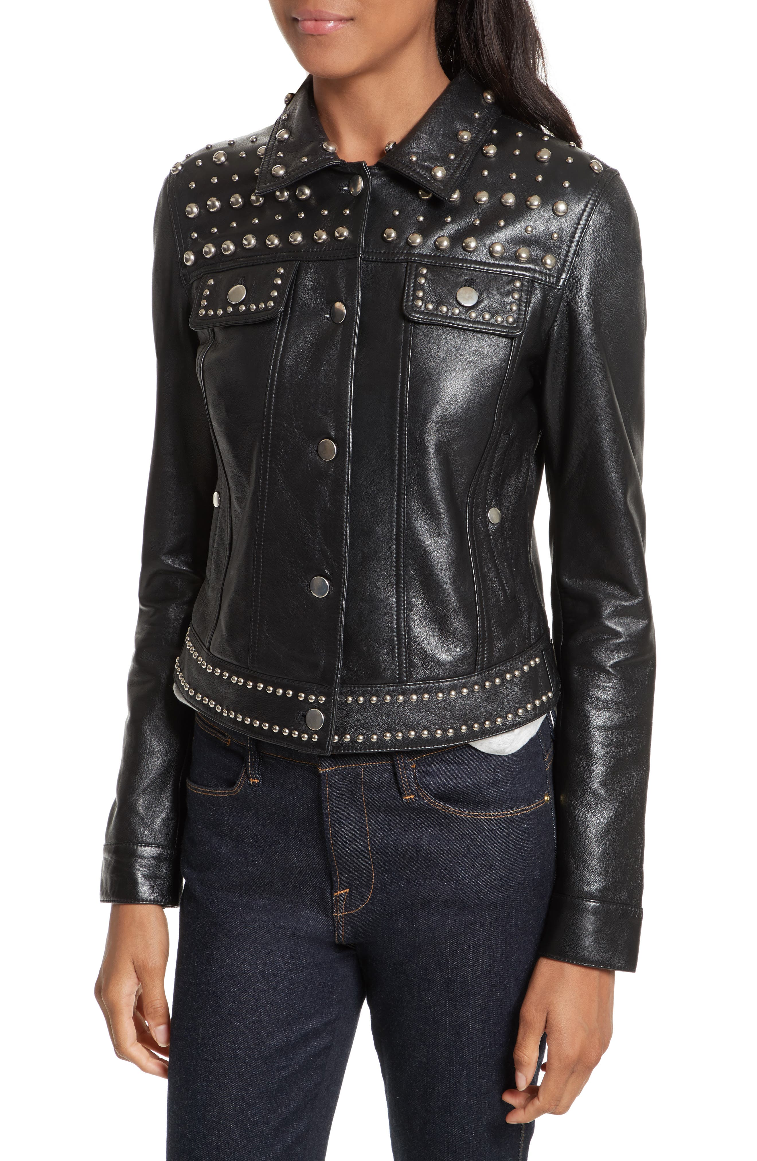 Alternate Image 4  - Rebecca Minkoff Annatto Leather Jacket