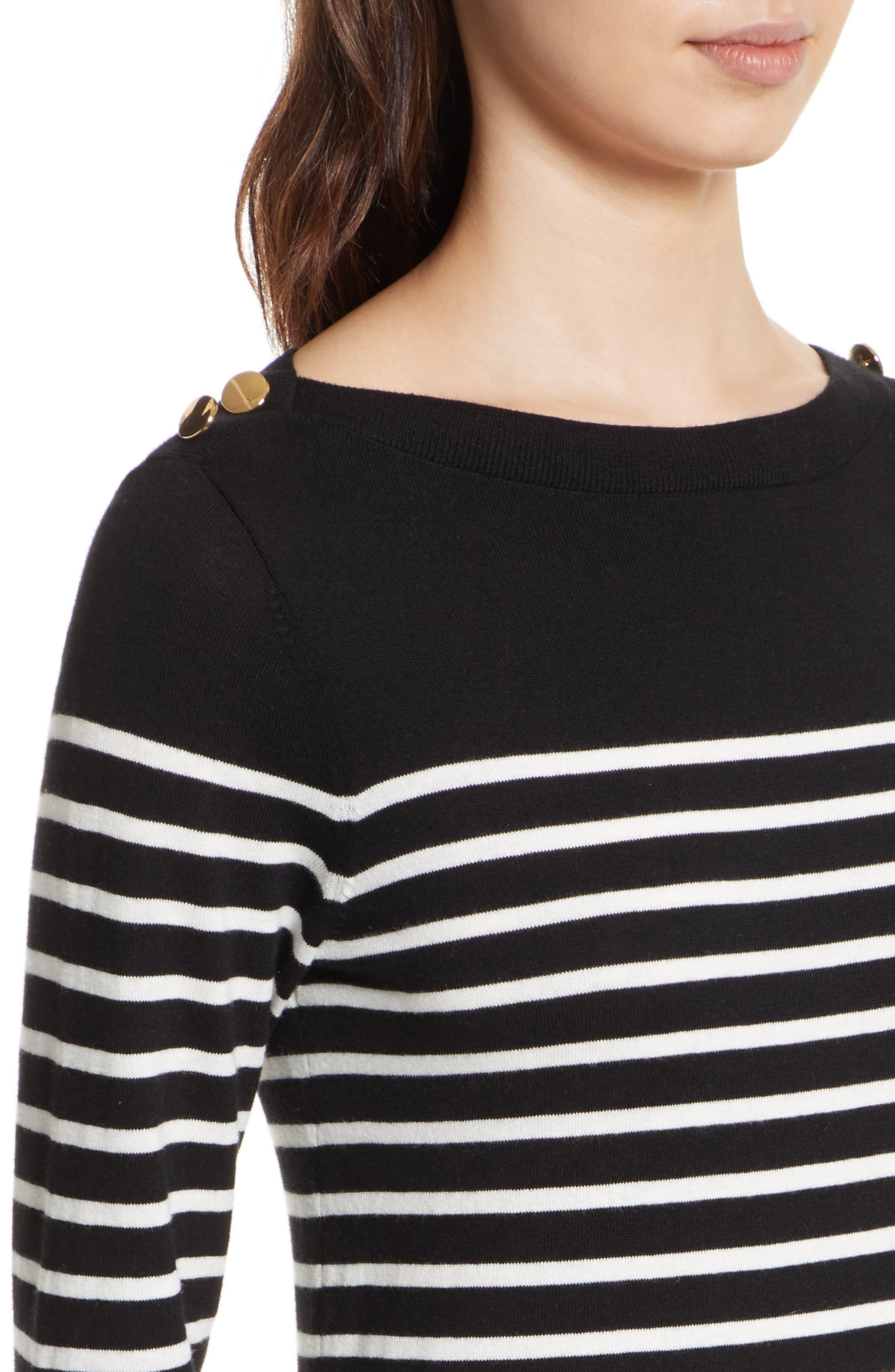 Alternate Image 4  - kate spade new york stripe swing sweater dress