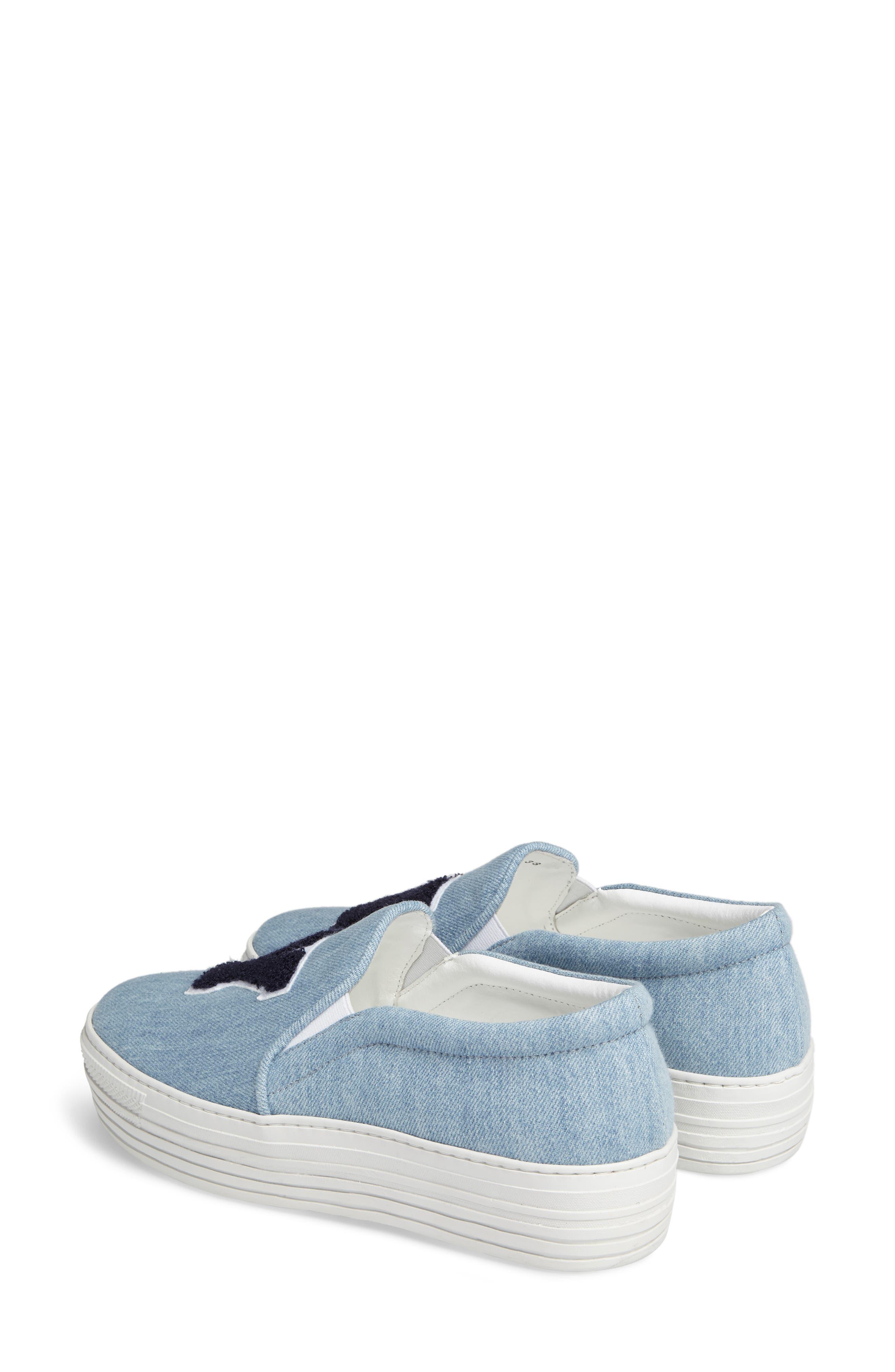 Slip-On Sneaker,                             Alternate thumbnail 3, color,                             Light Denim