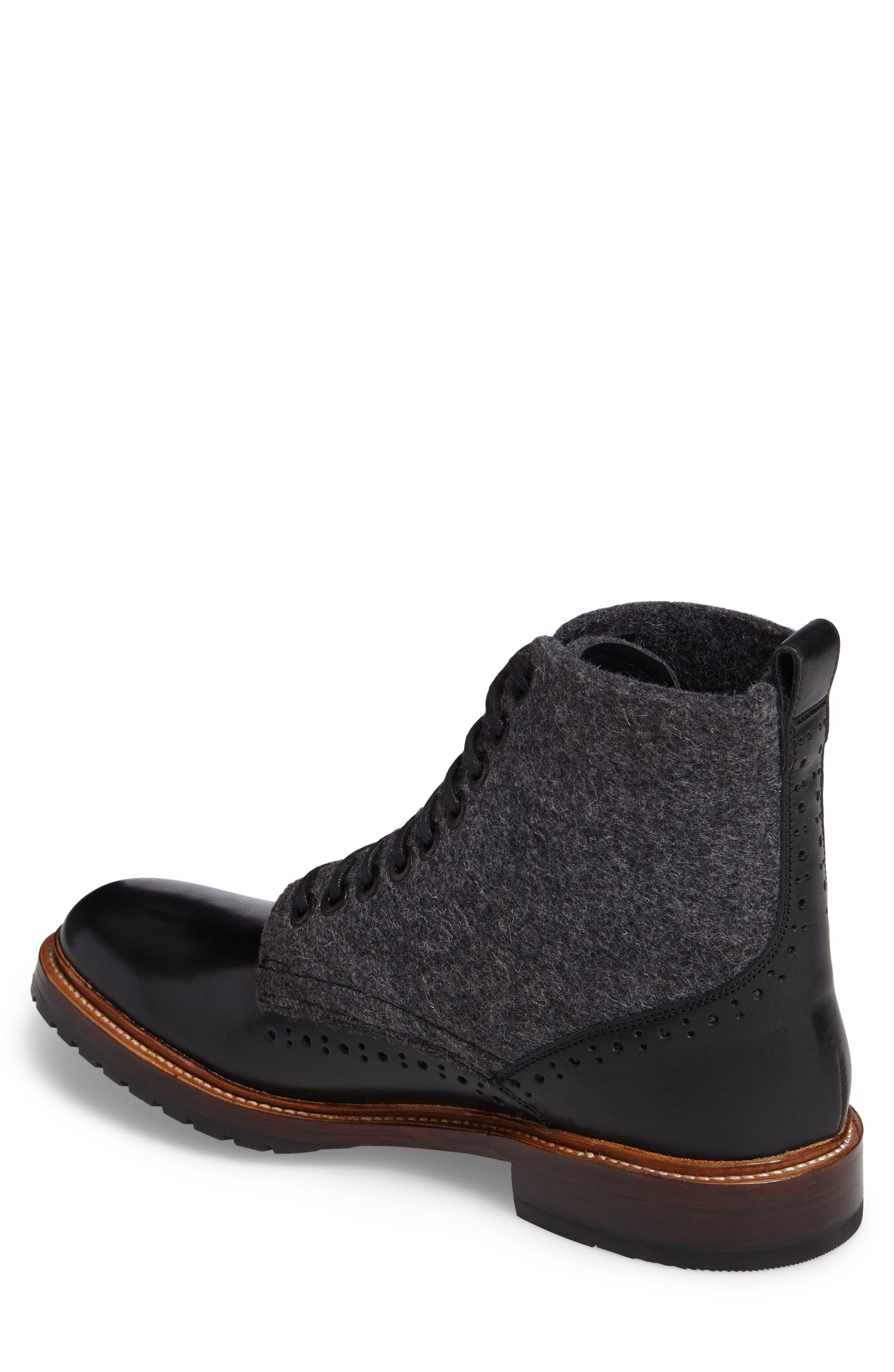 Madison II Felt Shaft Boot,                             Alternate thumbnail 2, color,                             Black
