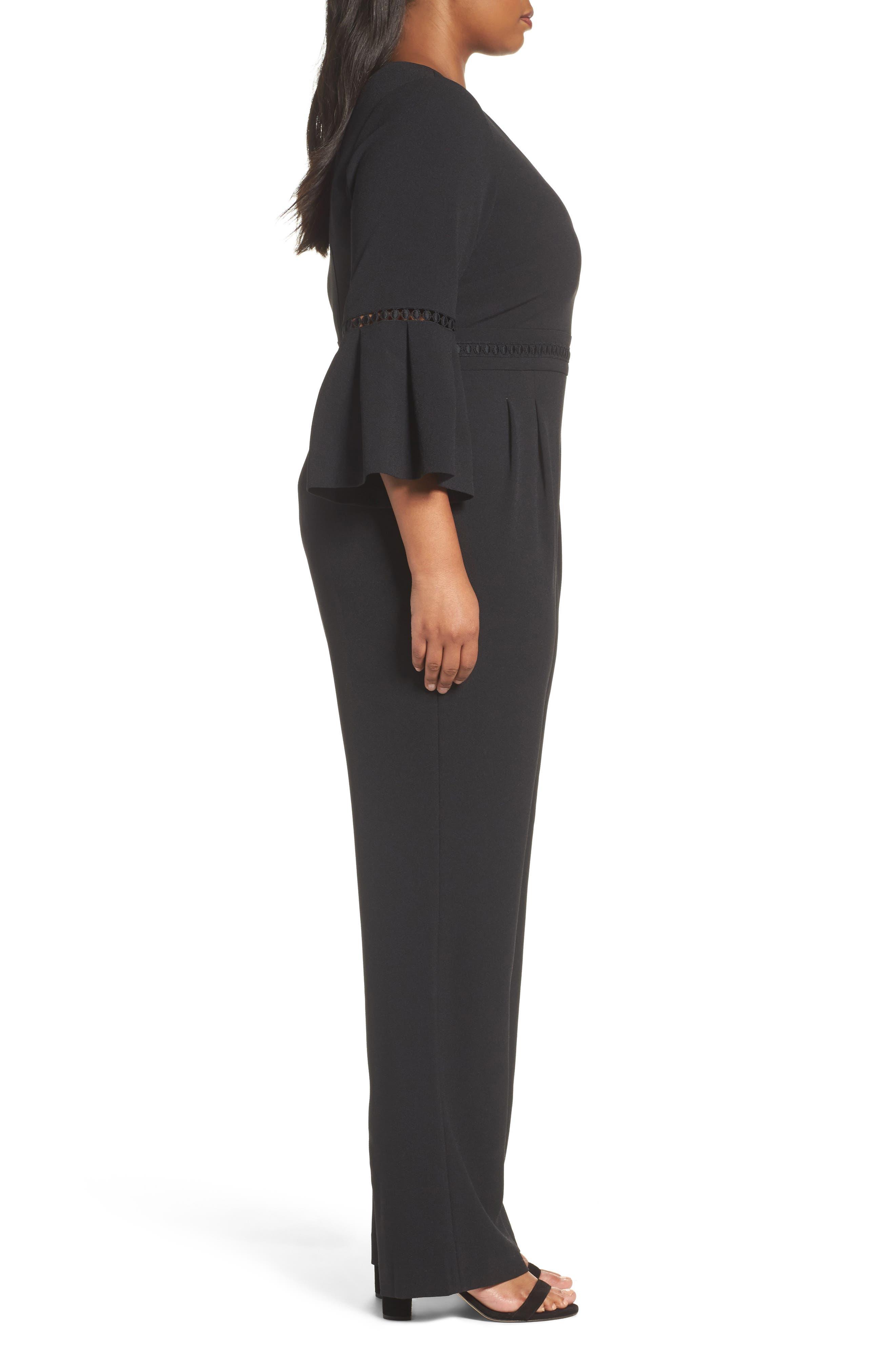 Alternate Image 3  - Eliza J Bell Sleeve Jumpsuit (Plus Size)